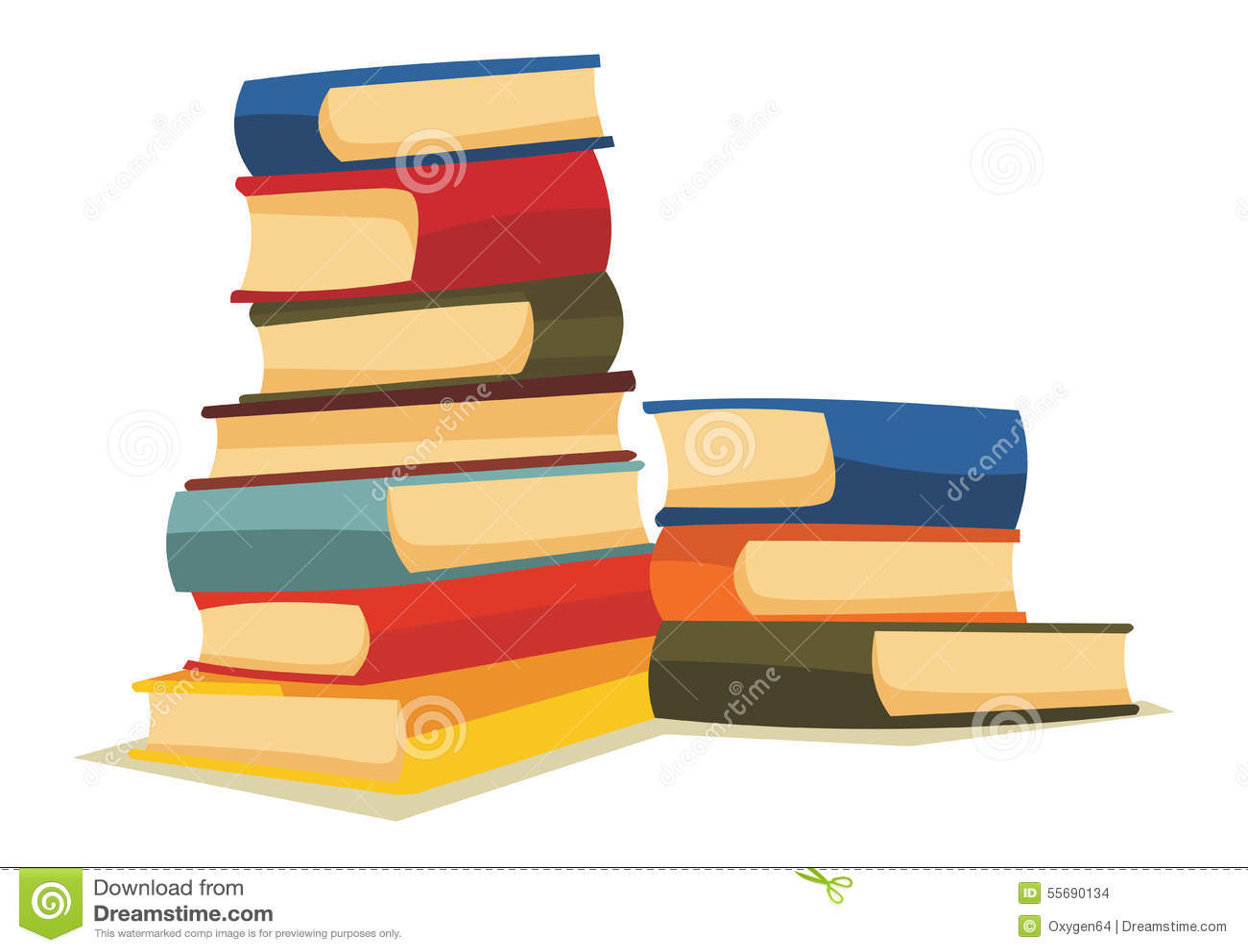 cartoon books pile illustration vector created stack dreamstime floor