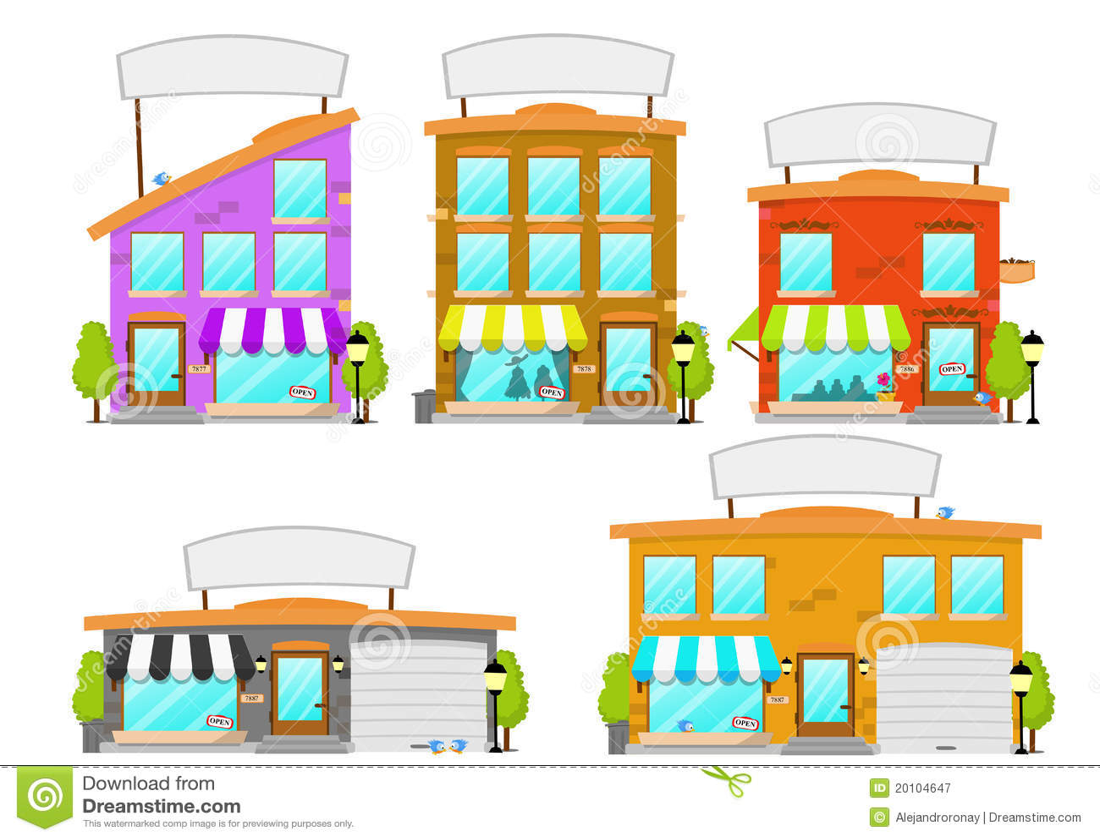 Building cartoon clipart restaurant building and restaurant building - Royalty Free Stock Photo Download Cartoon Boutique Building