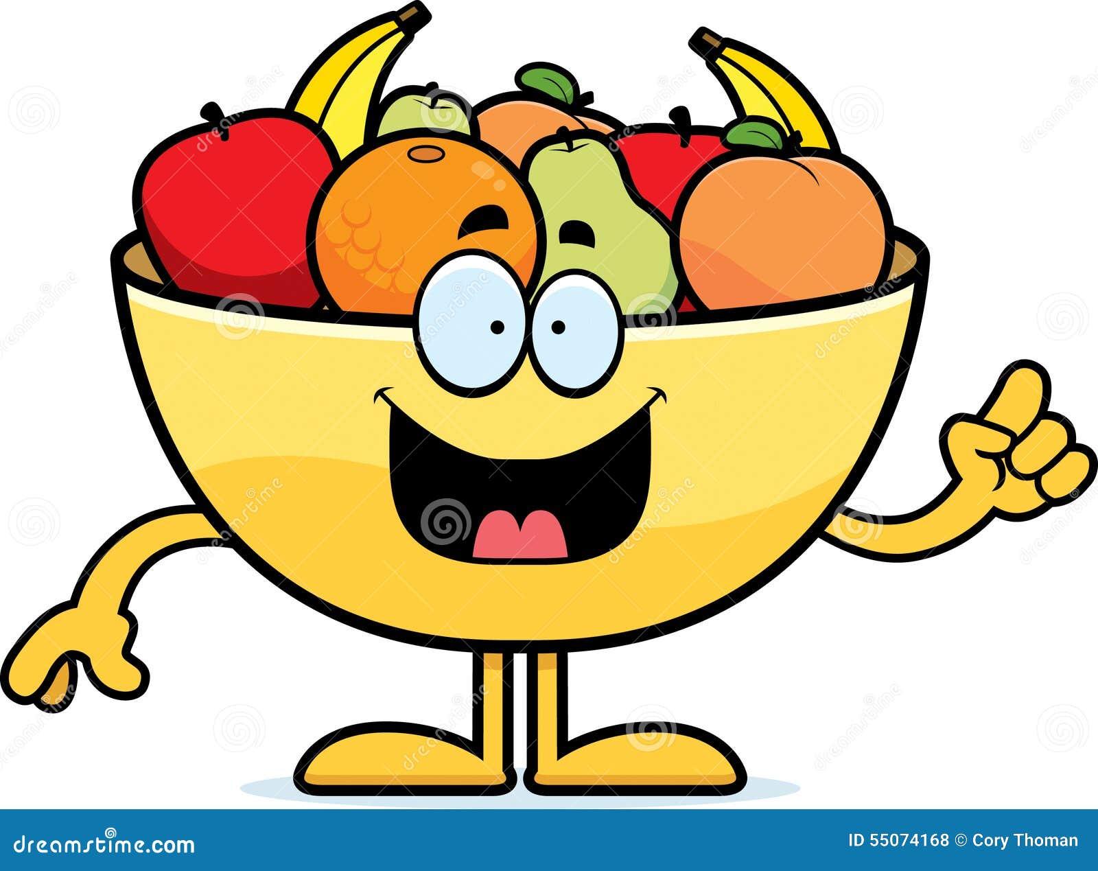 Cartoon Bowl of Fruit Idea stock vector. Illustration of ...