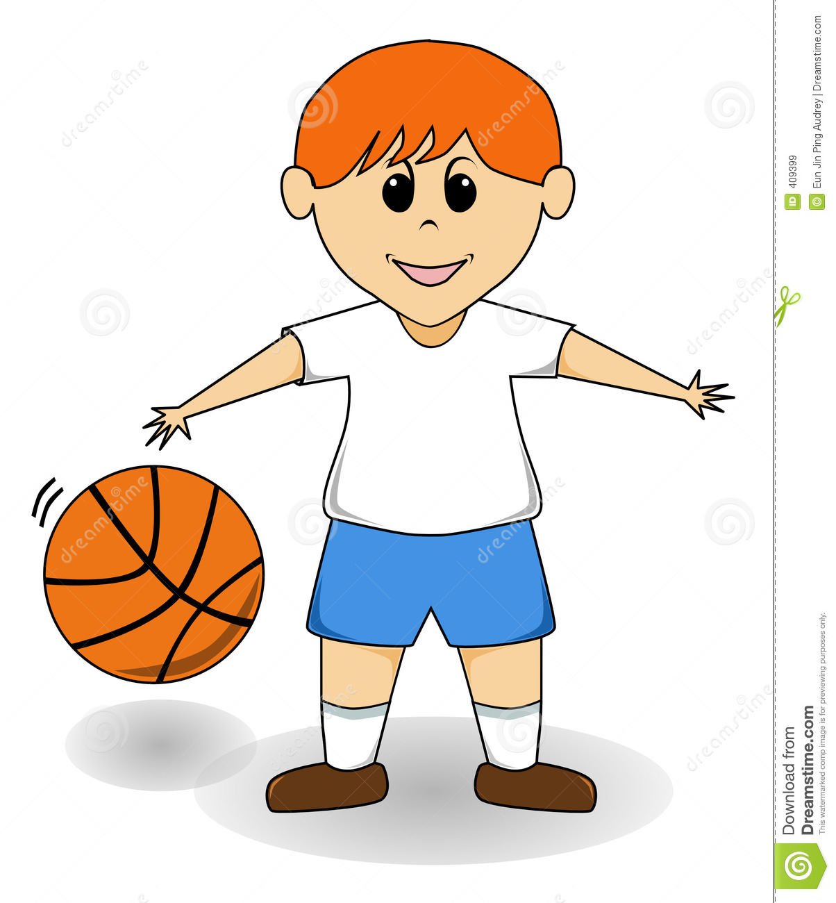 Cartoon Boy - Basketball Royalty Free Stock Images - Image ...