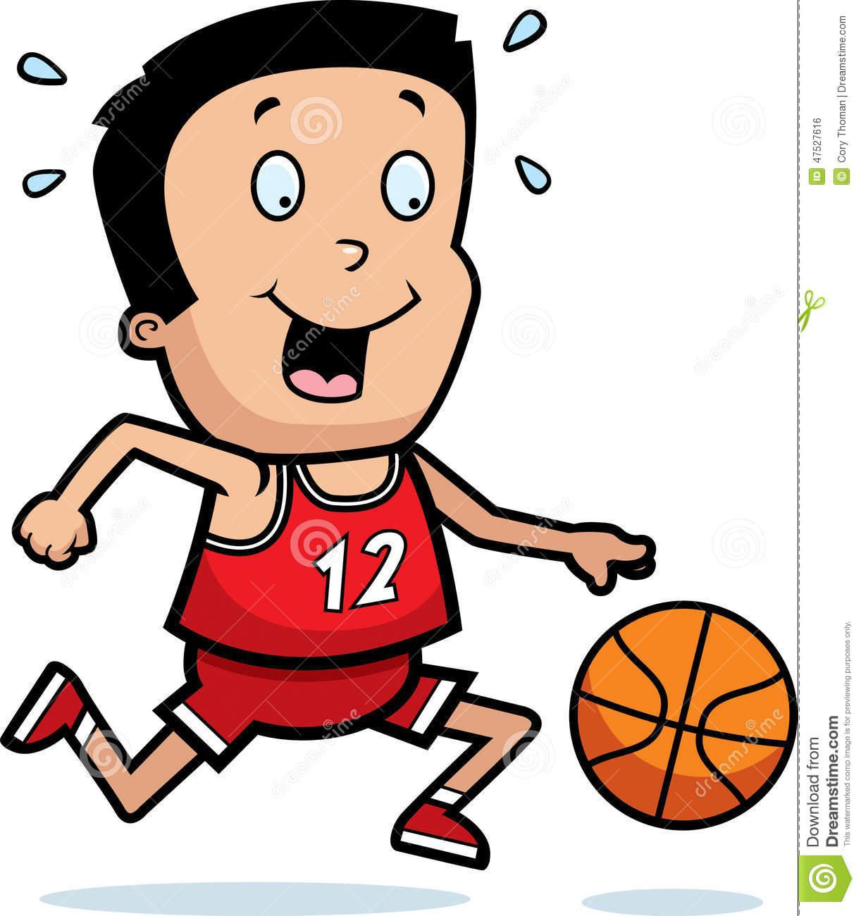 Cartoon Boy Basketball stock vector. Illustration of ...