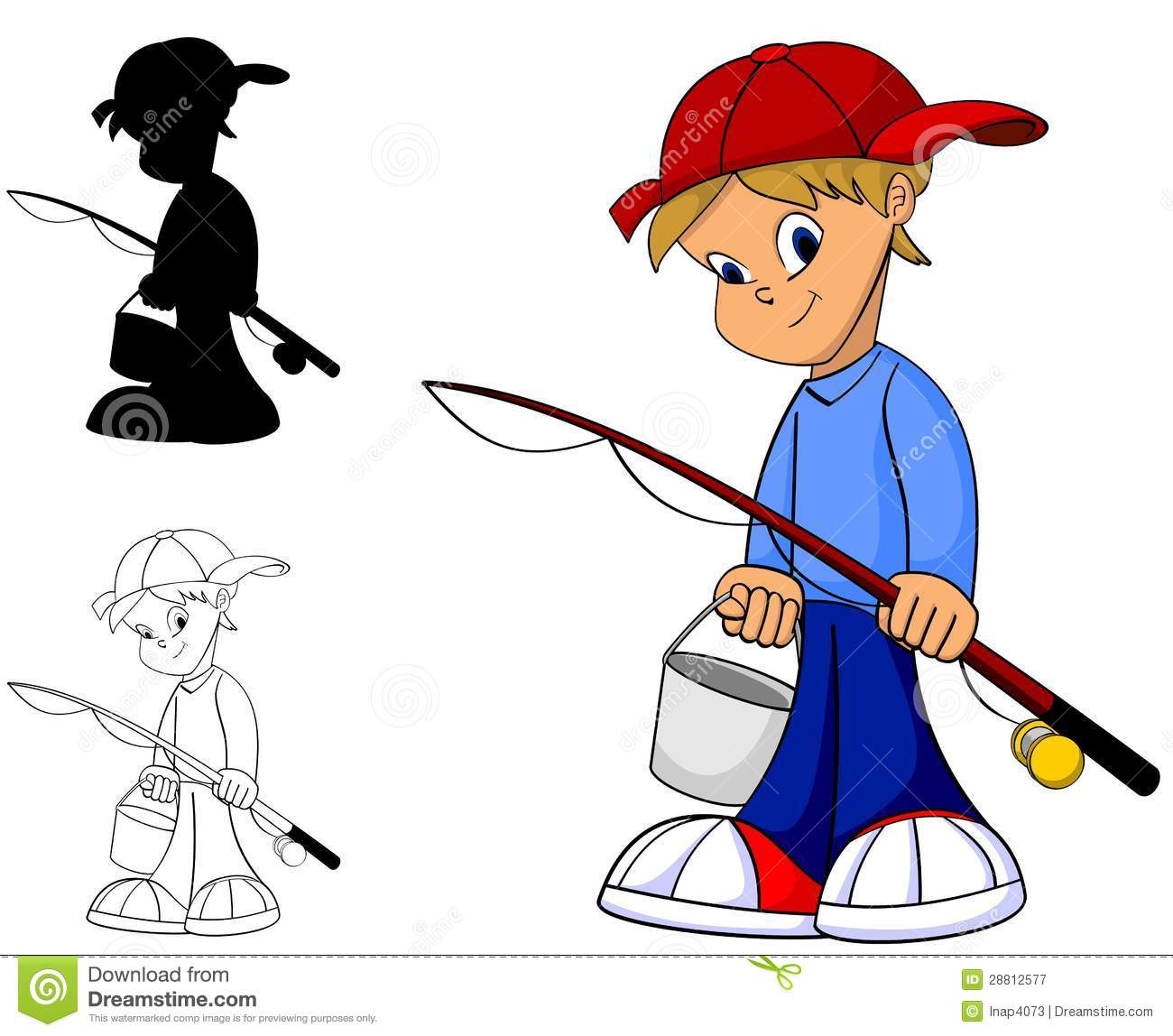 cartoon boy fishing stock illustrations 560 cartoon boy fishing rh dreamstime com Boy Fishing Silhouette Boy with Fishing Pole Clip Art