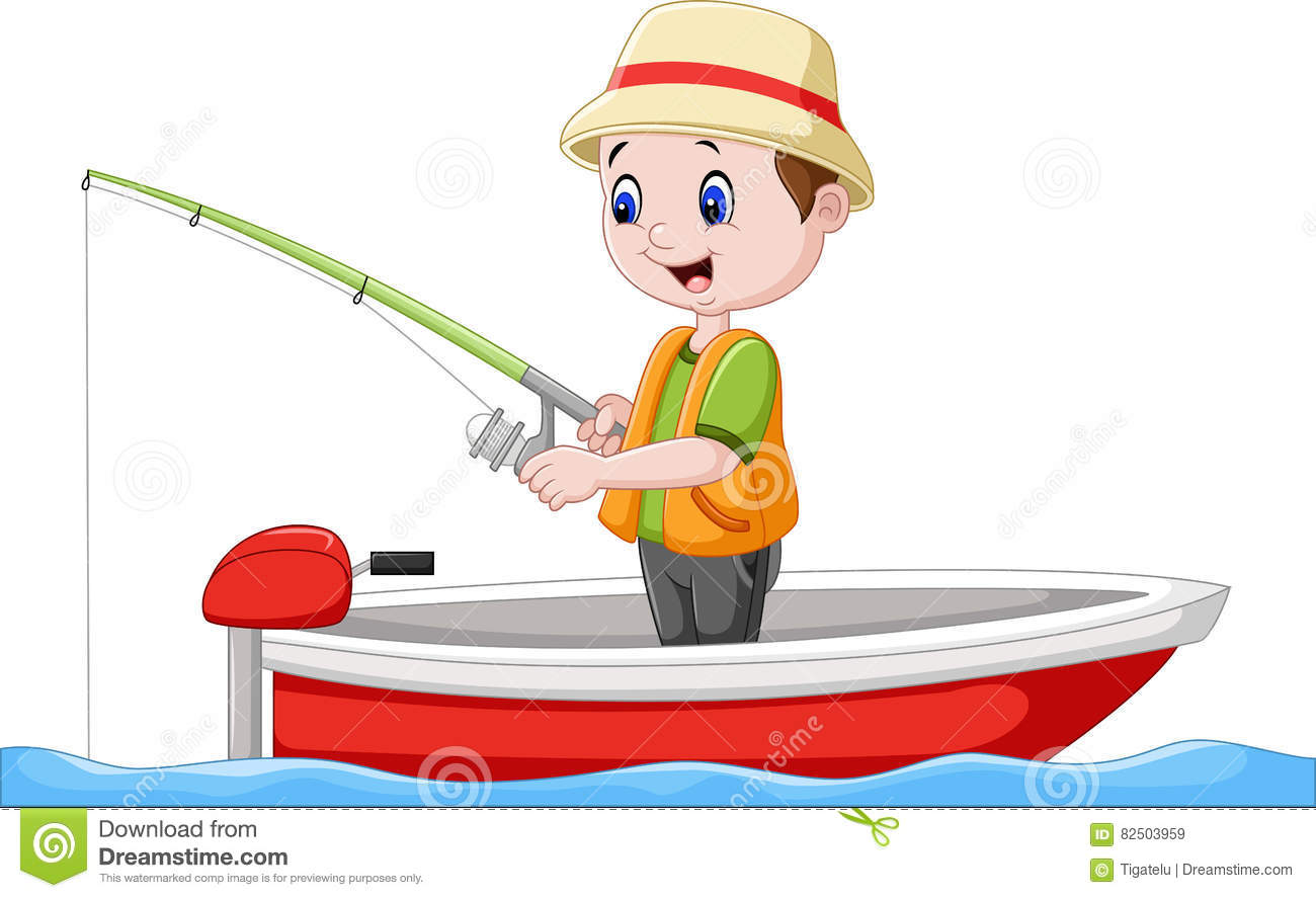 cartoon fishing boat stock vector image 49909483