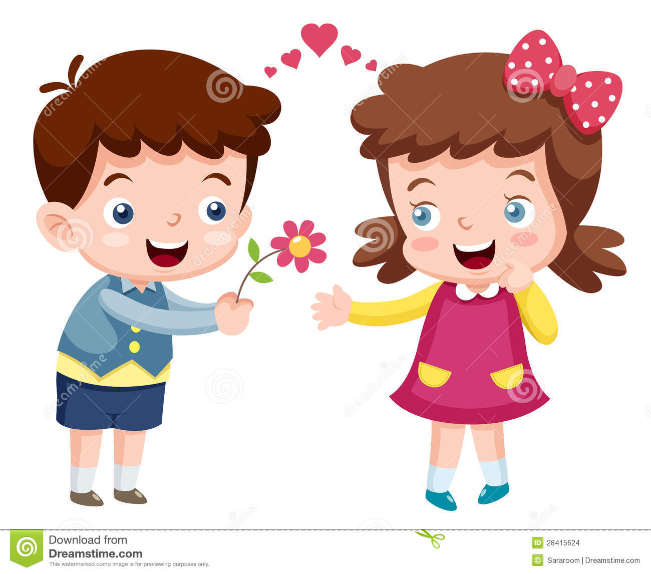 Cartoon Boy And Girl Stock Images Image 28415624
