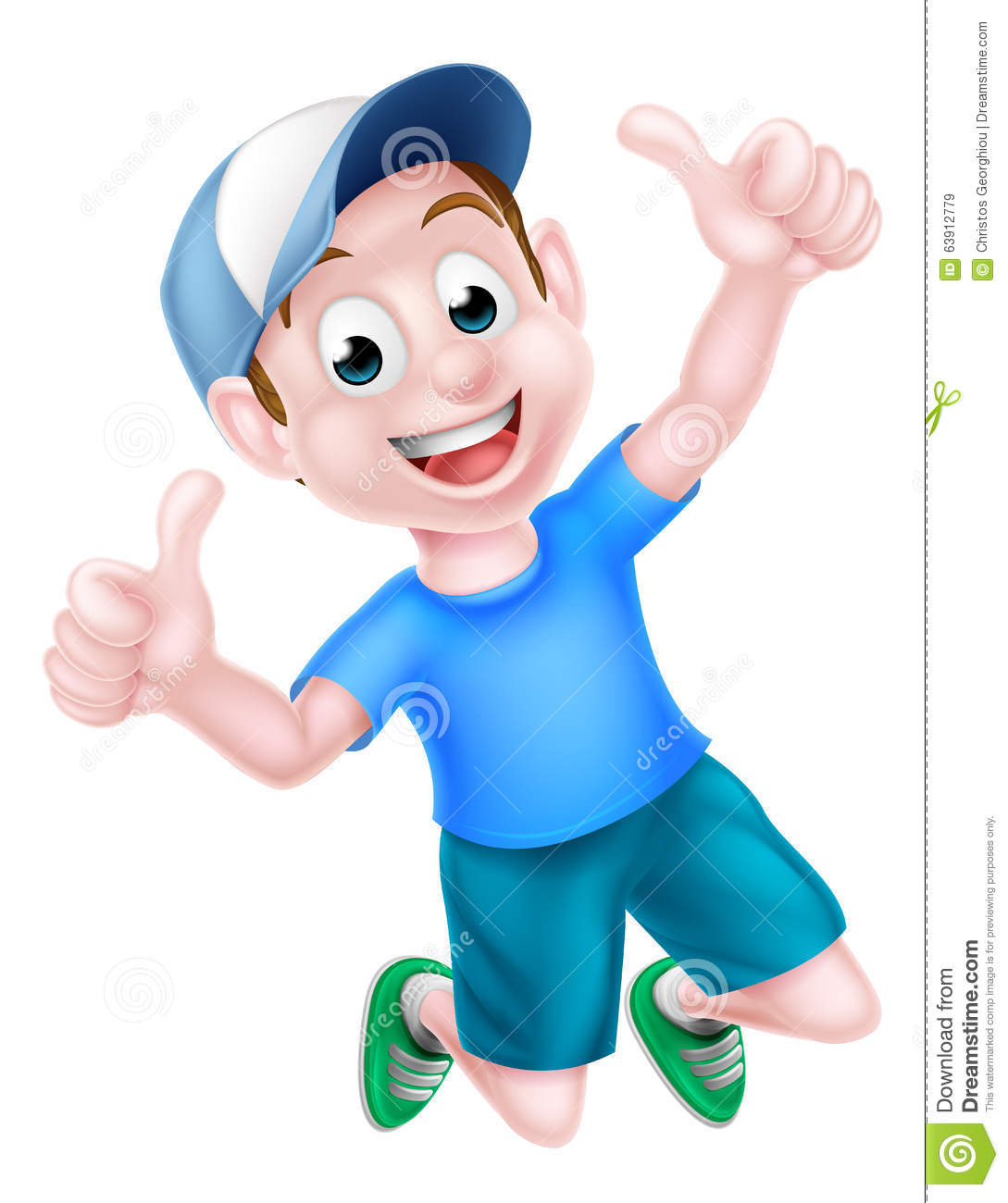 Excited Children Holding Thumbs Up Royalty-Free Stock
