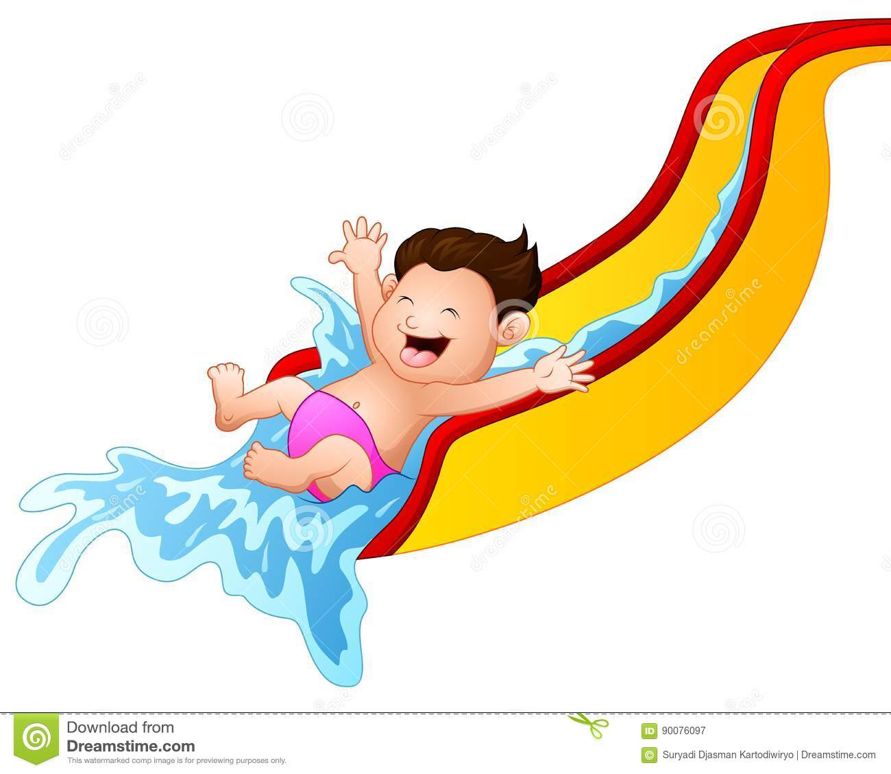 Waterslide Cartoons, Illustrations & Vector Stock Images ...