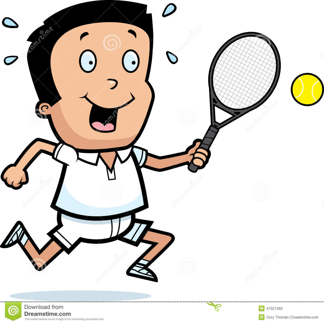 Cartoon Boy Tennis Stock Vector - Image: 47527493