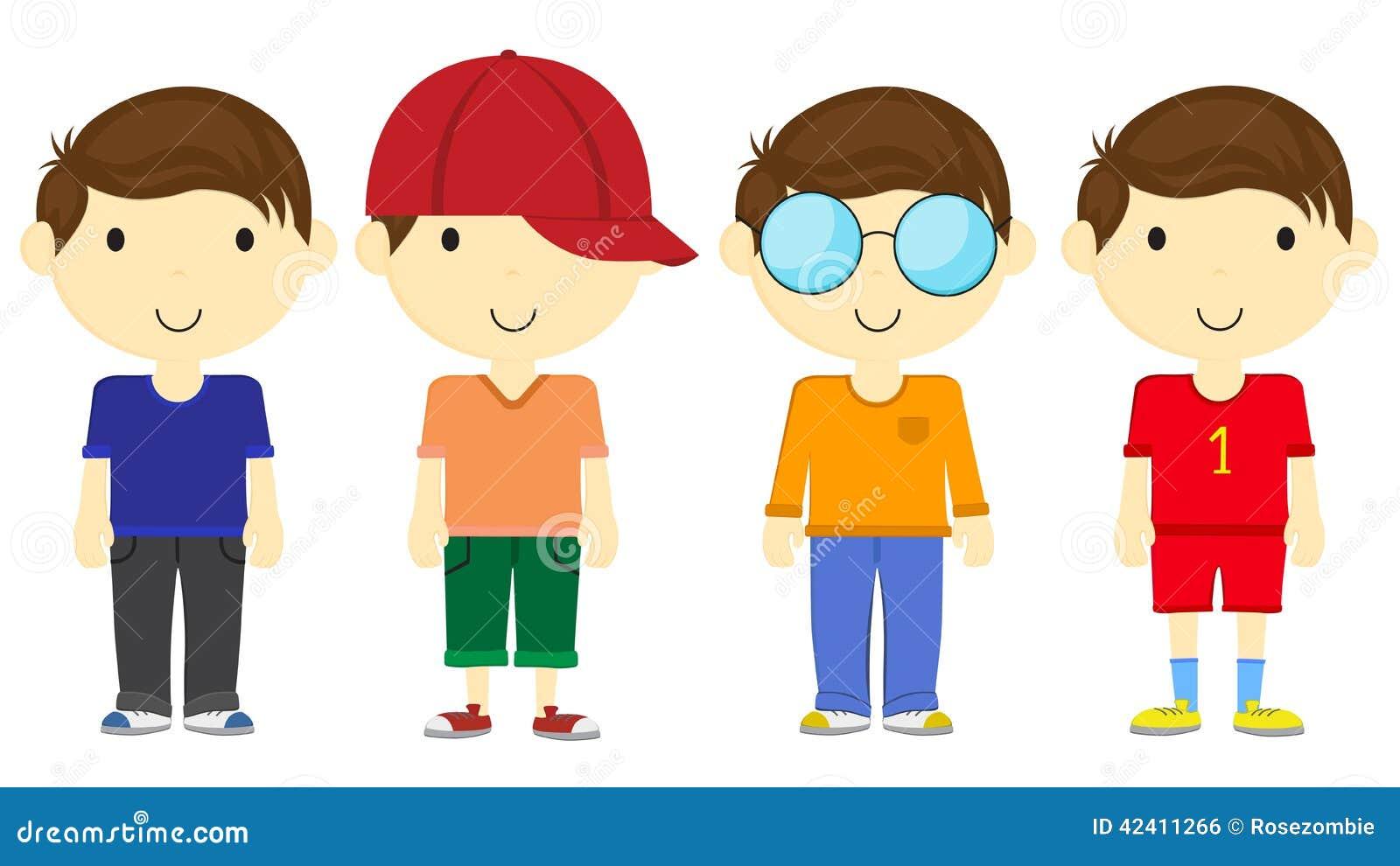 Cartoon boy stock illustration. Image of student, teenager ...