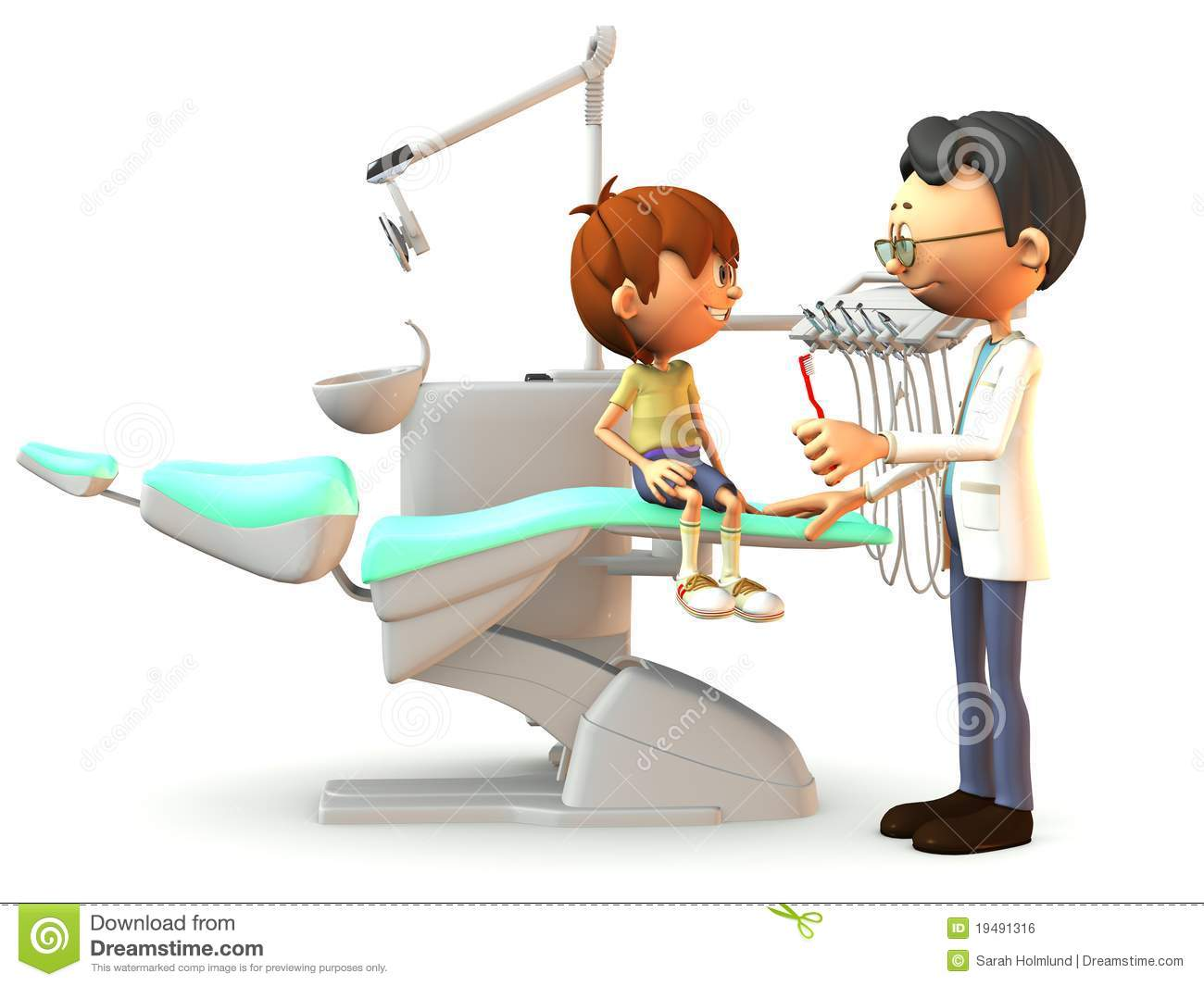 ... Boy Visiting The Dentist. Royalty Free Stock Image - Image: 19491316