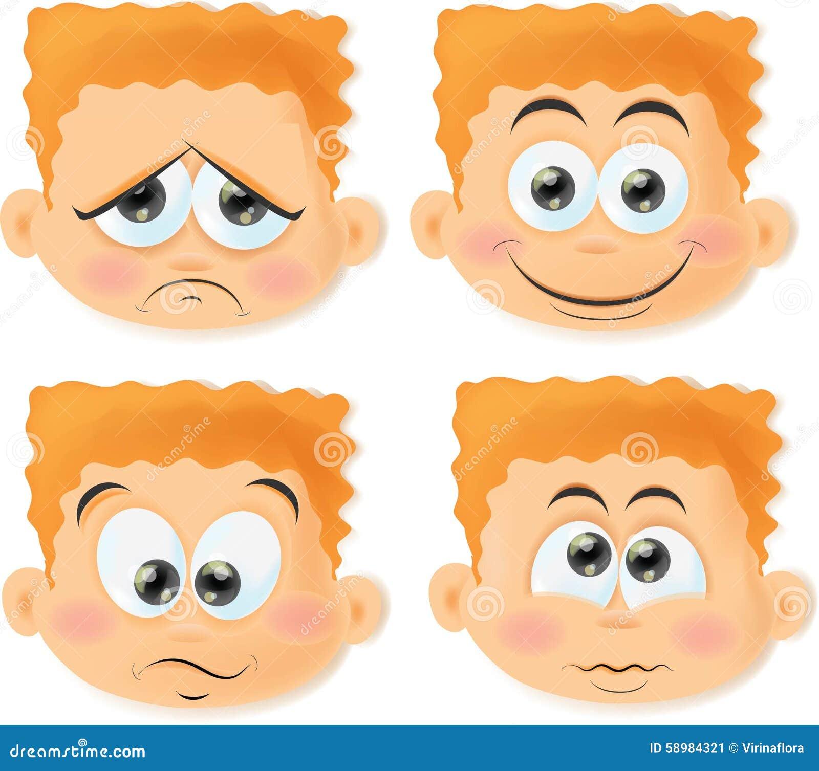 Funny Cartoon Images Of Boys cartoon boys with funny faces,vector stock vector