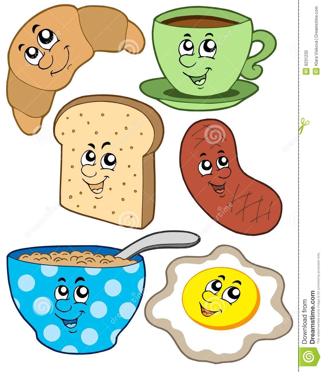 cartoon breakfast collection stock vector illustration free bbq clipart images free bbq clipart borders