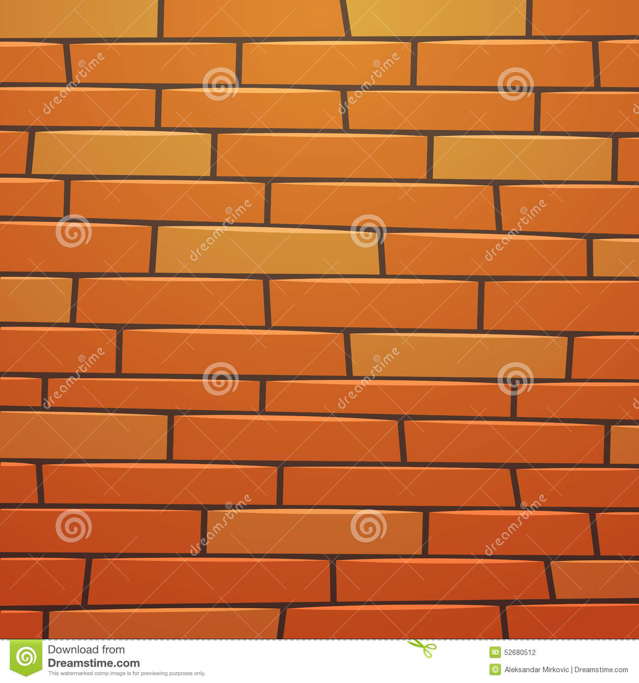 Cartoon Brick Wall Stock Vector - Image: 52680512