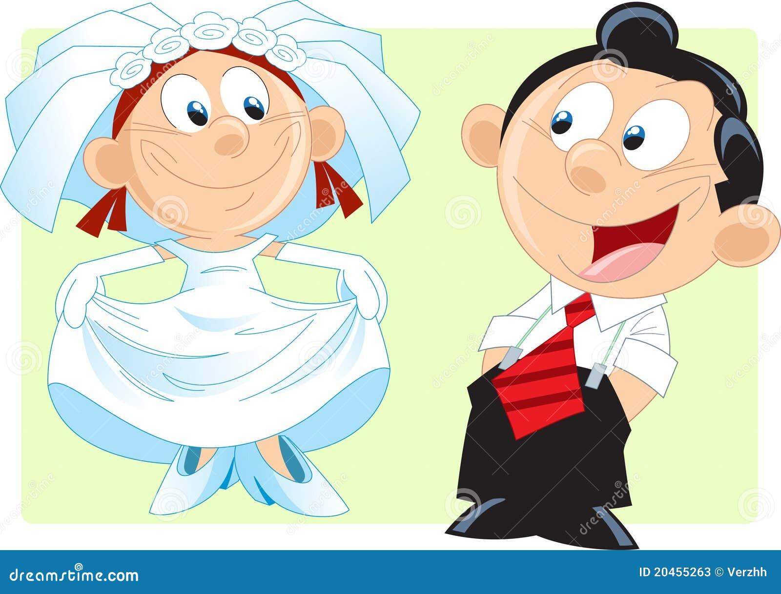 Cartoon Bride Stock Vector Illustration Of Bride Couple 20455263