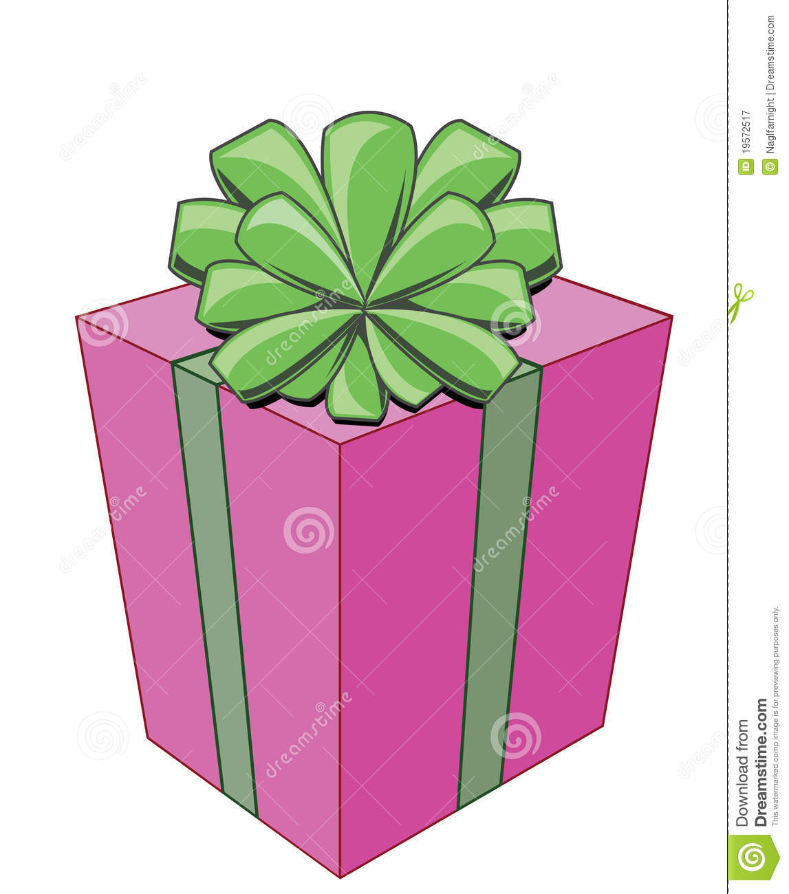 Cartoon. Bright Gift Box With Bow For Celebration Royalty Free Stock ...