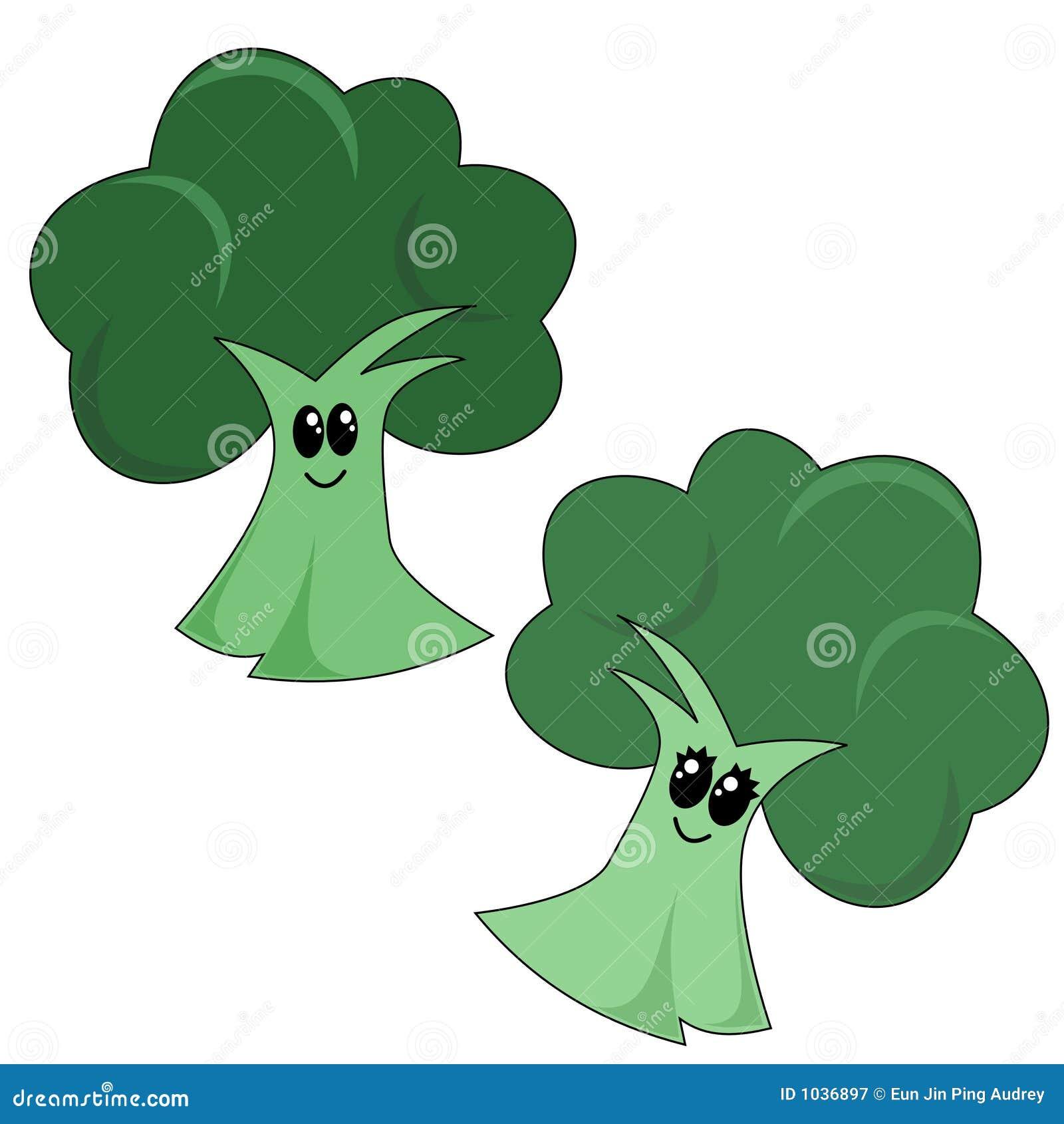 Cartoon Broccoli Stock Vector Image Of Fibre Nutrition