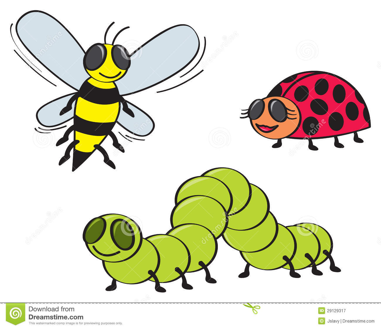 Cartoon Bugs Royalty Free Stock Photography - Image: 29129317