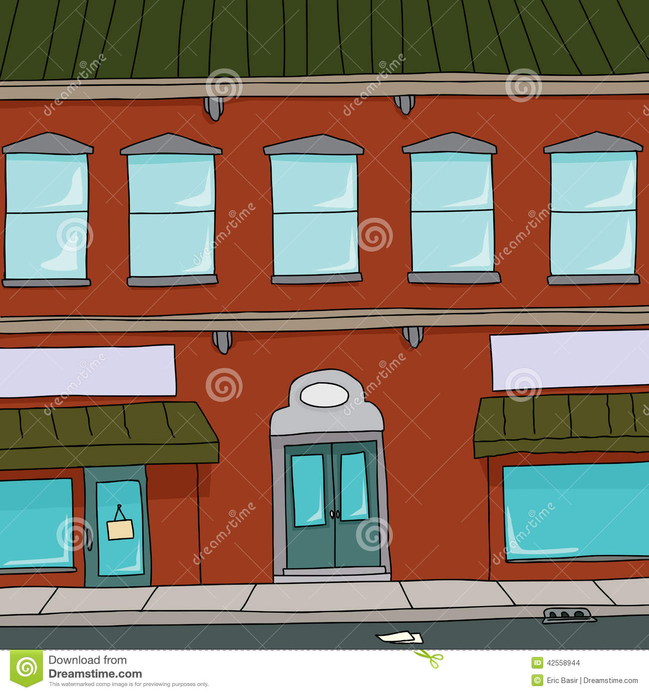 Apartment Store: Cartoon Building Stock Vector. Illustration Of Store