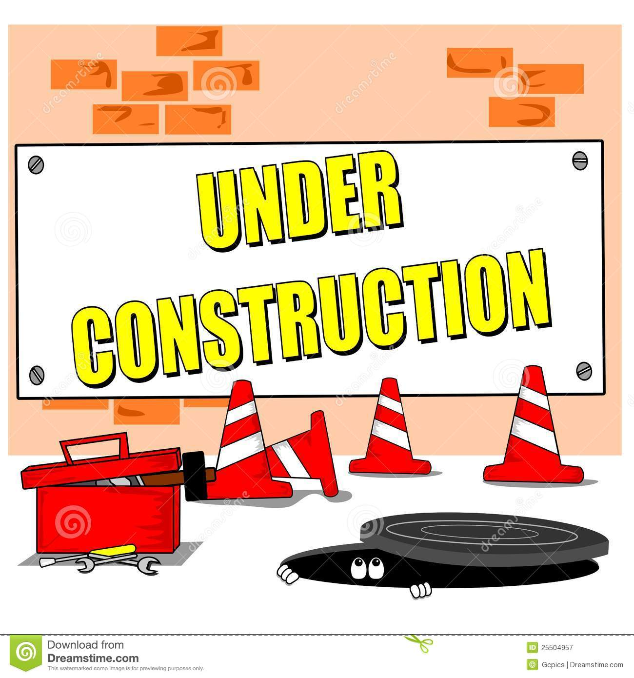 Cartoon Building Site Royalty Free Stock Photography - Image: 25504957