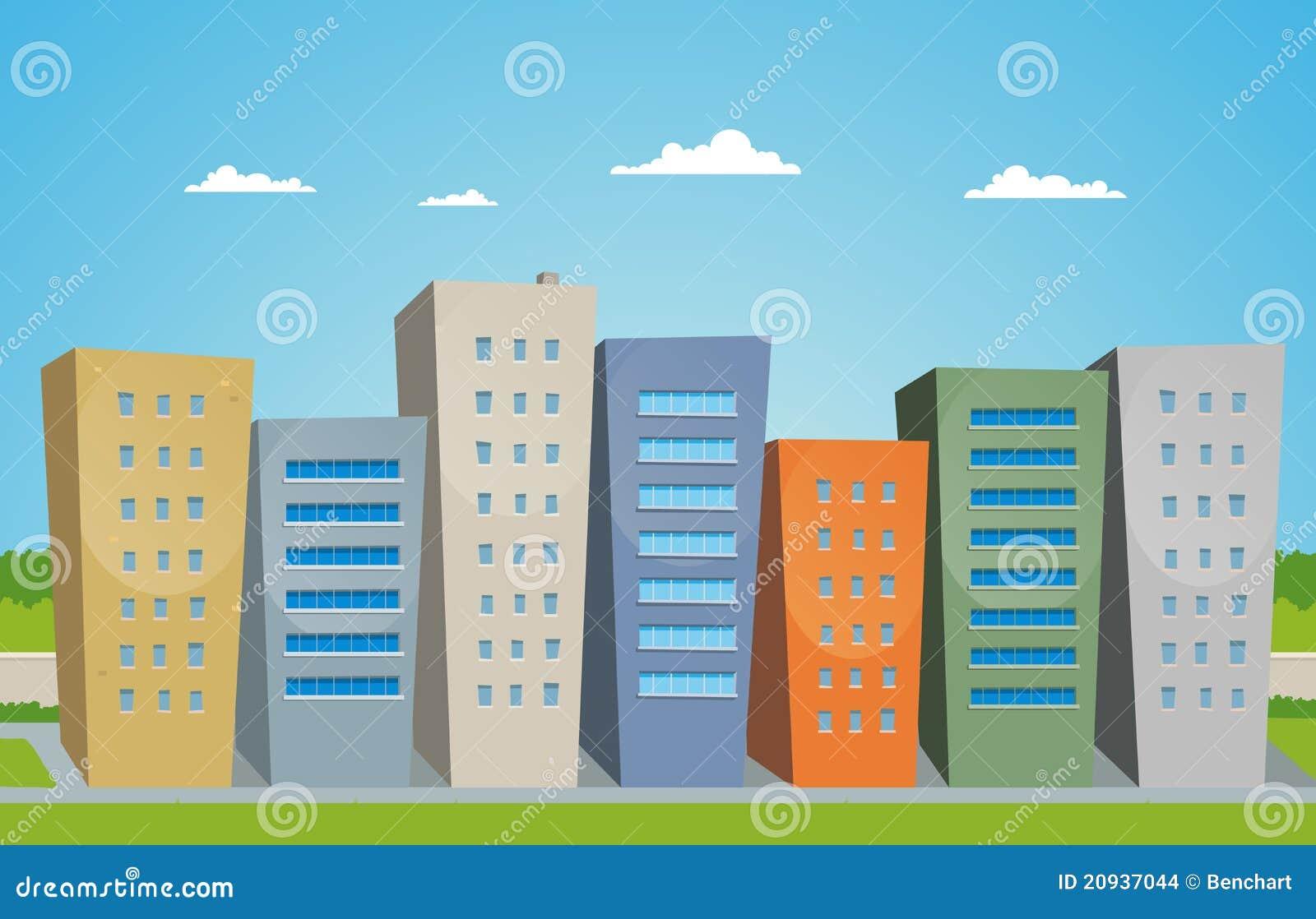 Imagenes De Edificios En Caricatura: Cartoon Buildings Stock Vector. Illustration Of Ecological