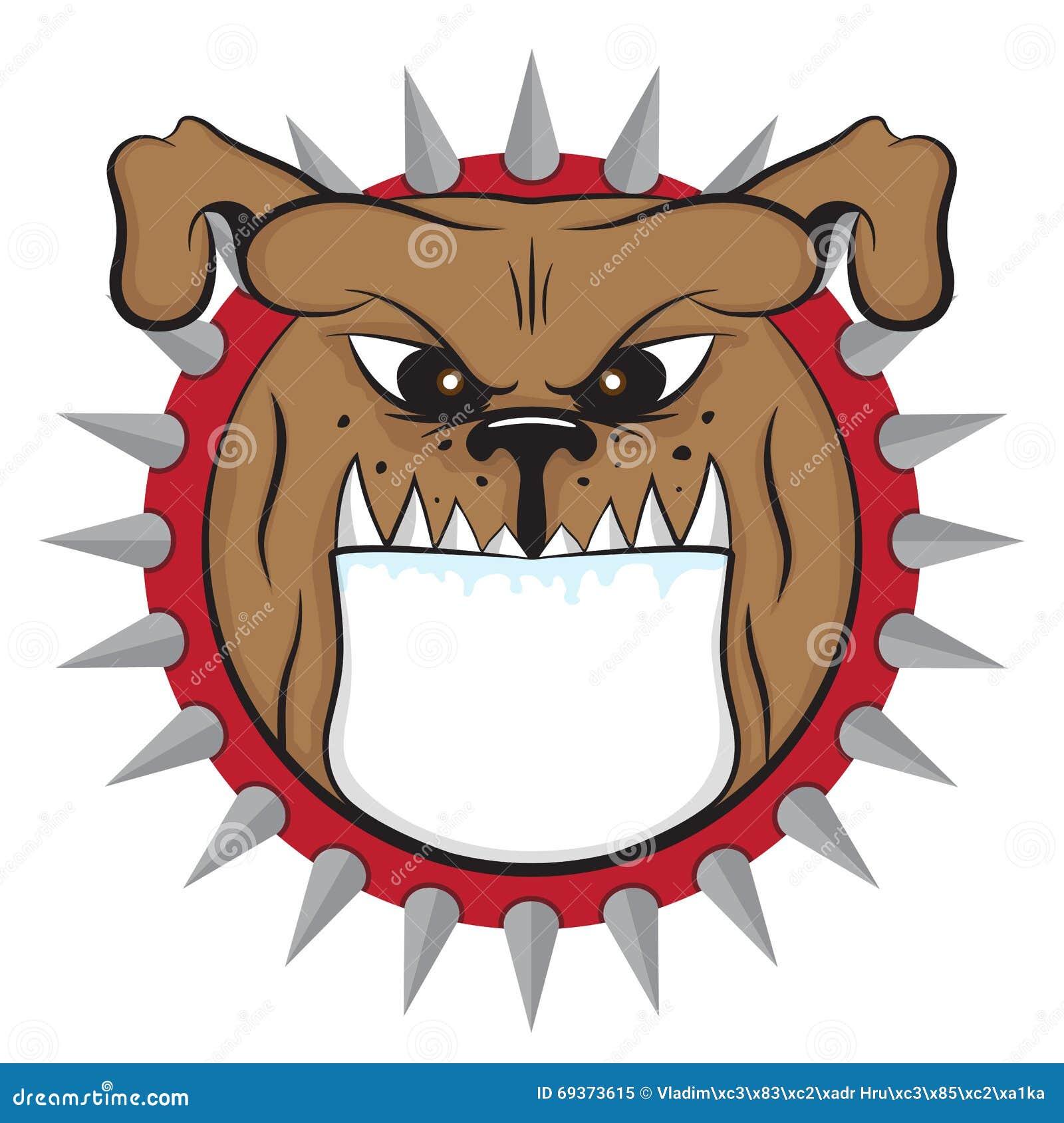 Cartoon Bulldog Head Vector Animal Icon Illustration Stock ...