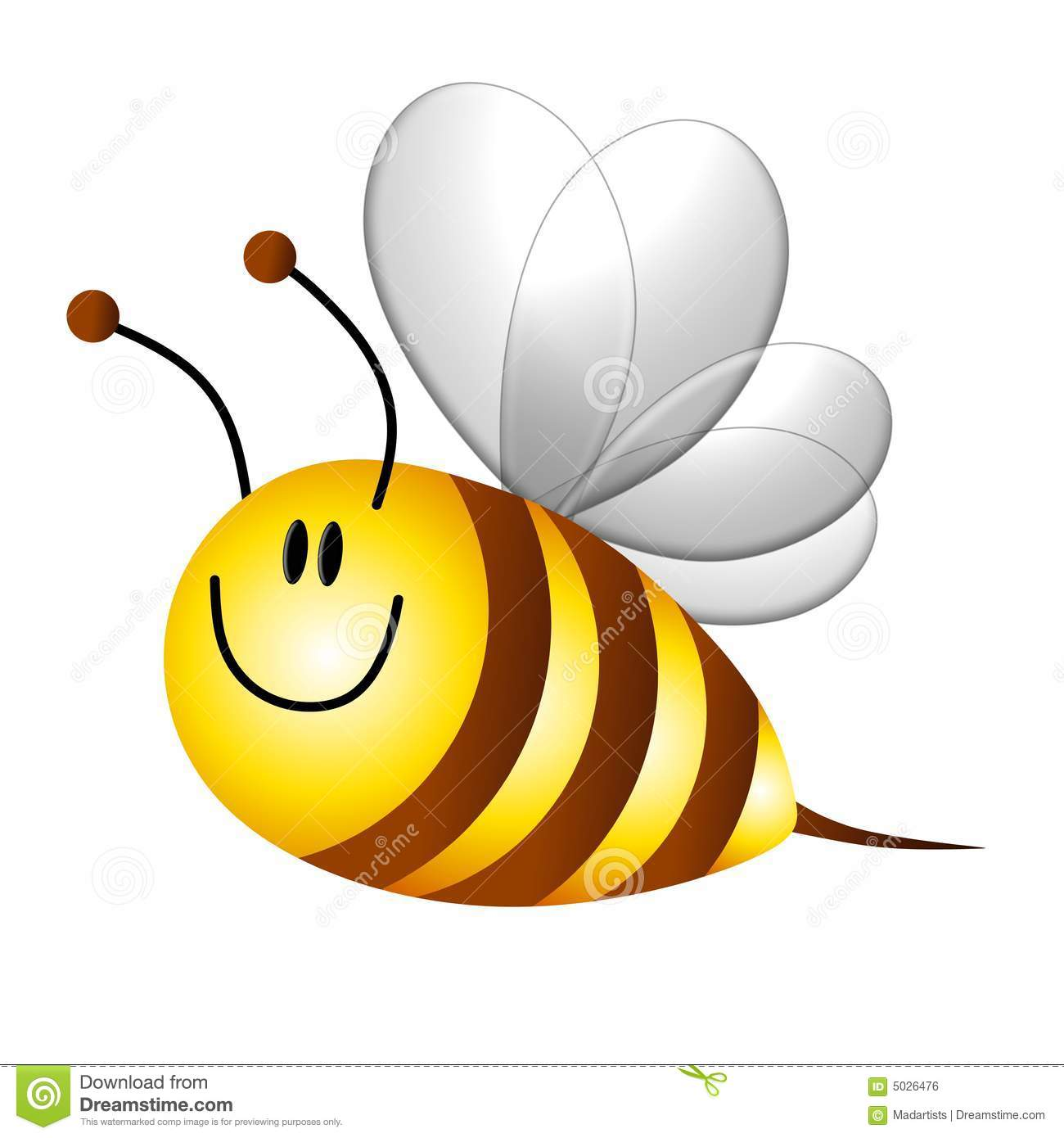 Cartoon Bumble Bee Flying Royalty Free Stock Image - Image ...