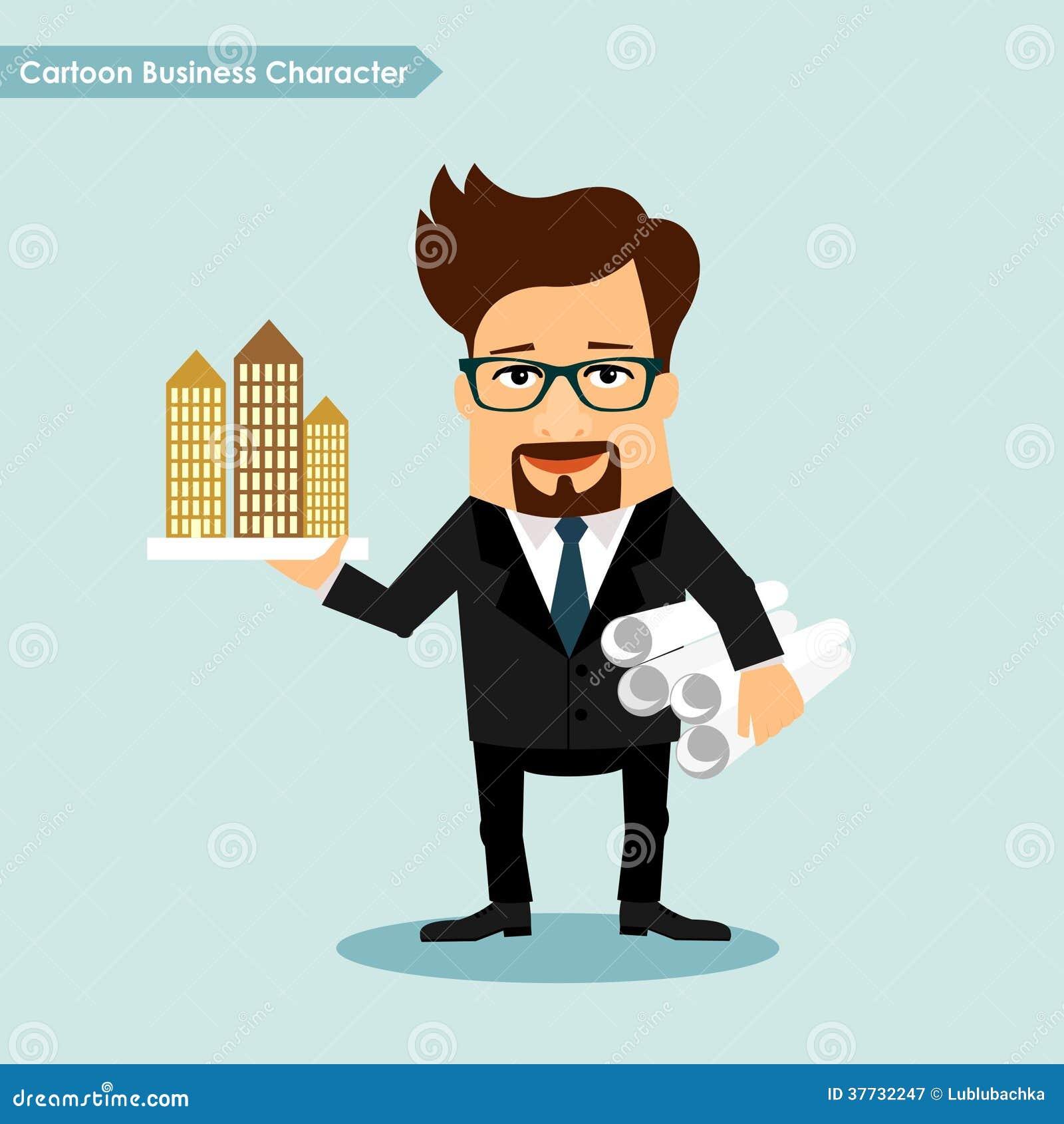 cartoon character architecture developer fumetto beeldverhaal carattere affari architettura sviluppatore building vector