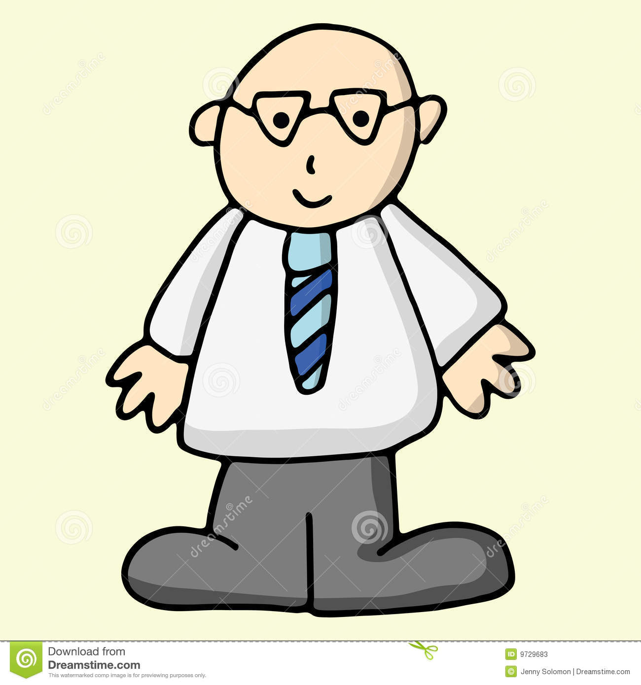 Cartoon Business Man Stock Photos - Image: 9729683