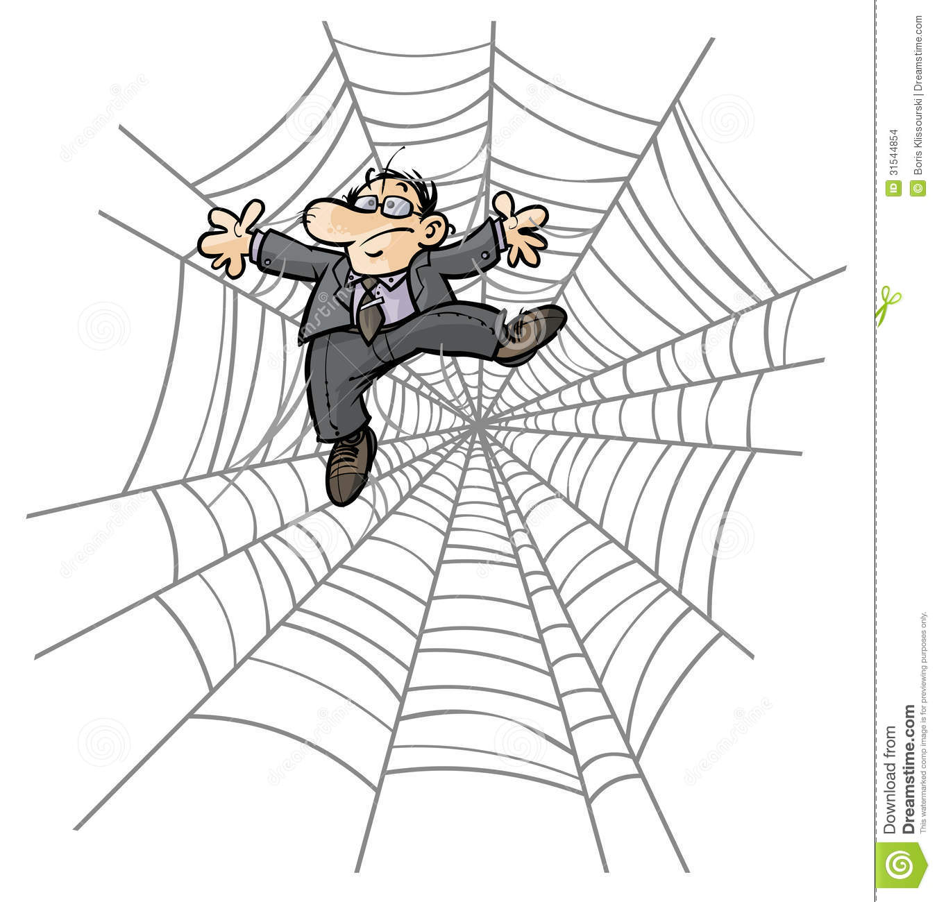 Stock Images Cartoon Business Man Spider Web Image Businessman Image31544854 on scary 3d halloween