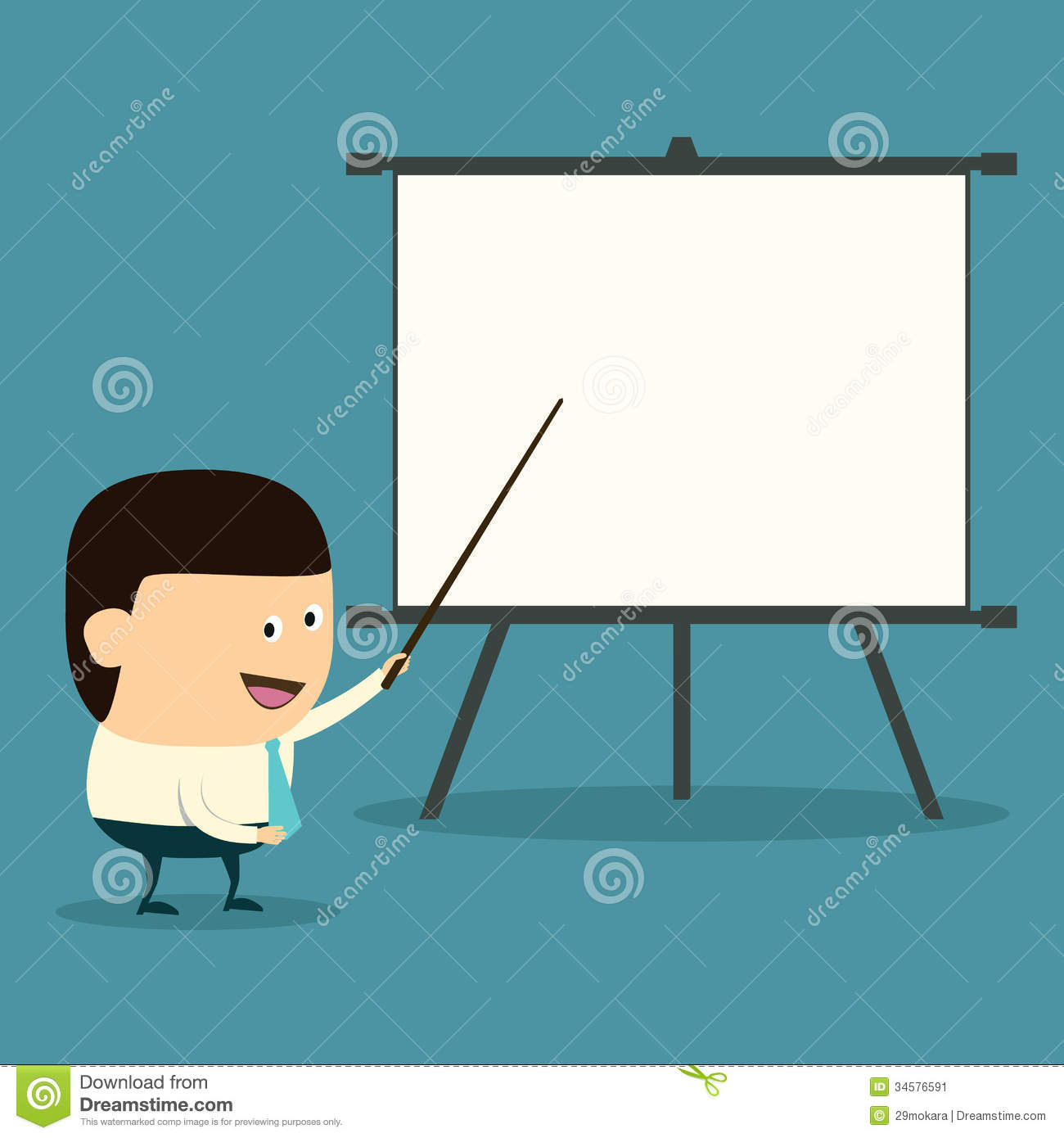Cartoon business presentation stock illustration illustration of.
