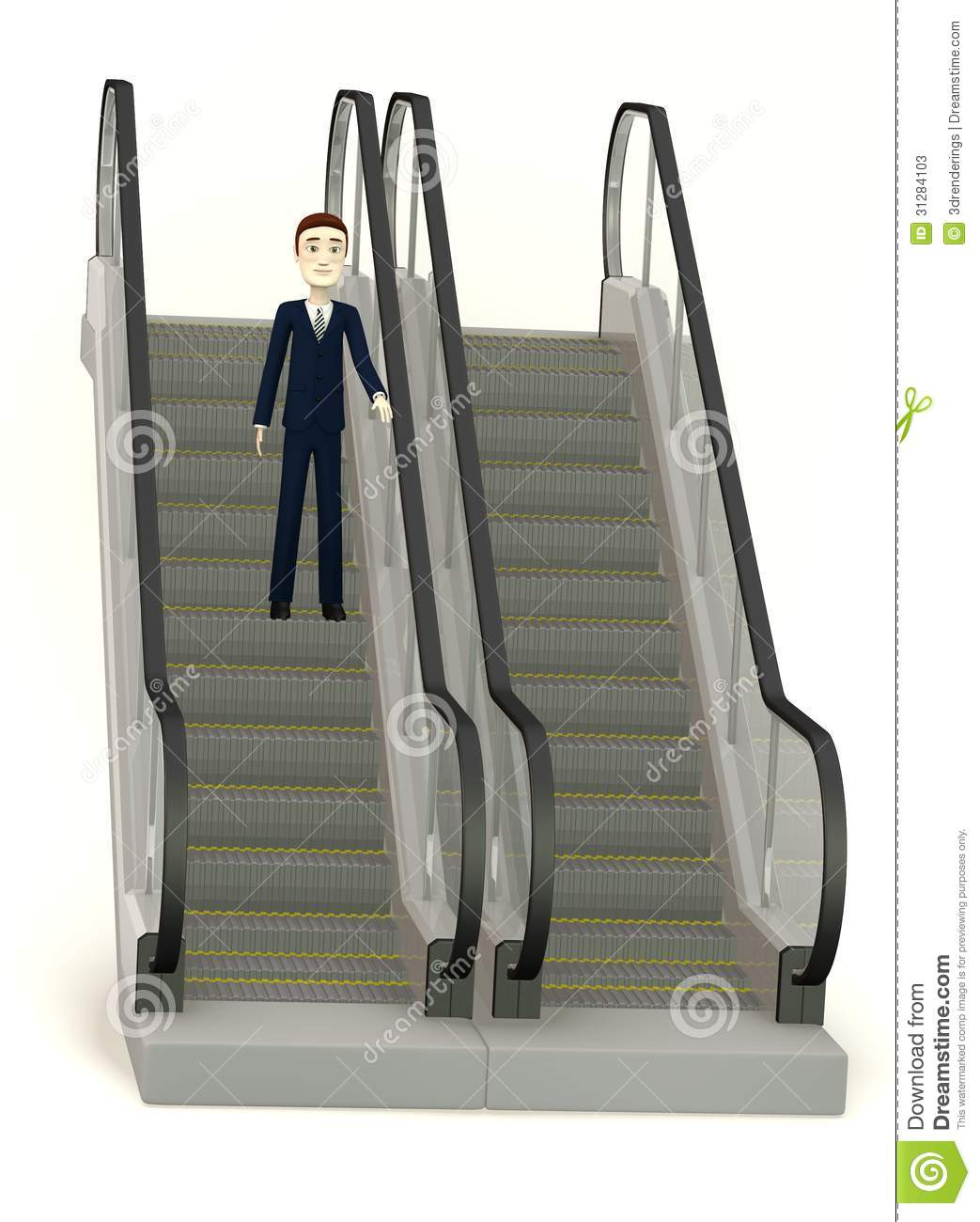 Cartoon Businessman On Escalator Stock Photos Image  : cartoon businessman escalator d render 31284103 <strong>Cool</strong> Office Chairs from www.dreamstime.com size 1043 x 1300 jpeg 102kB