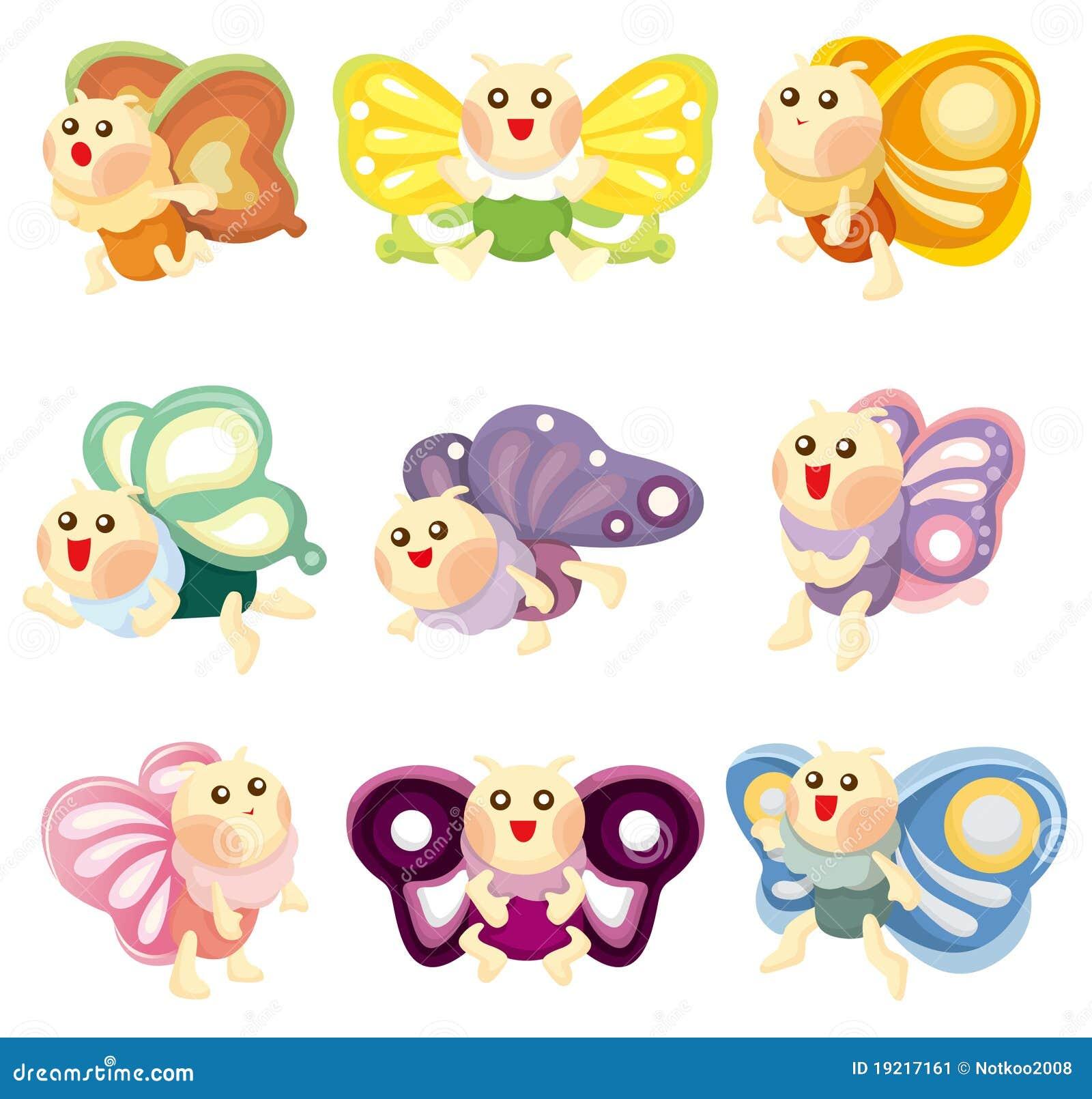 Cartoon Butterfly Icon Stock Vector Illustration Of Design