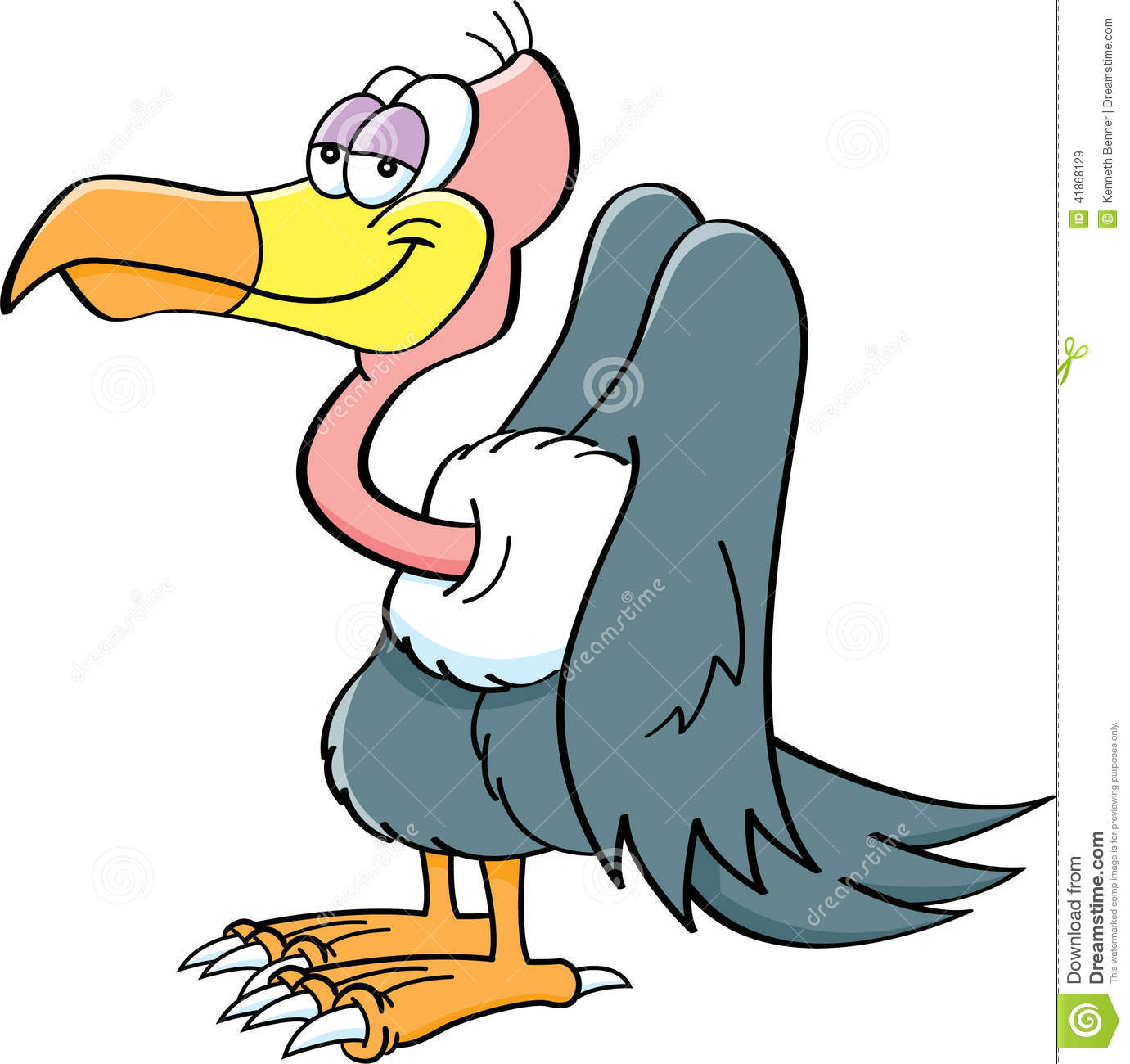 Cartoon Buzzard Stock Vector - Image: 41868129