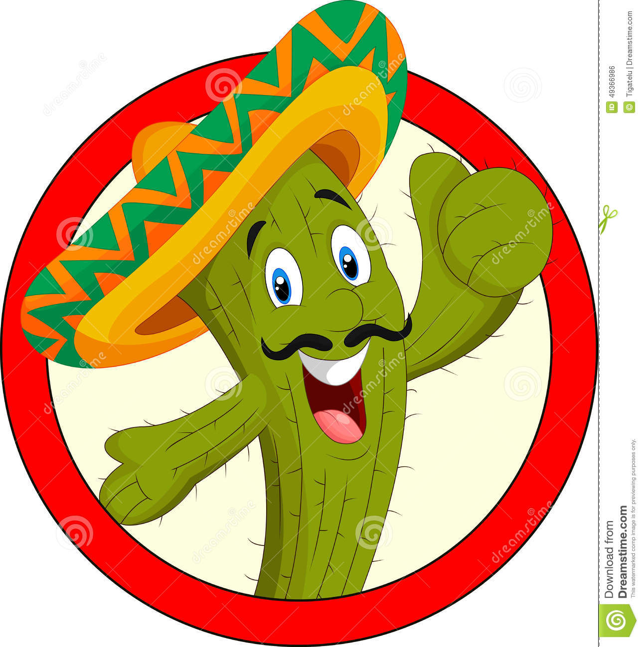Cartoon Cactus Character Stock Vector - Image: 49366986