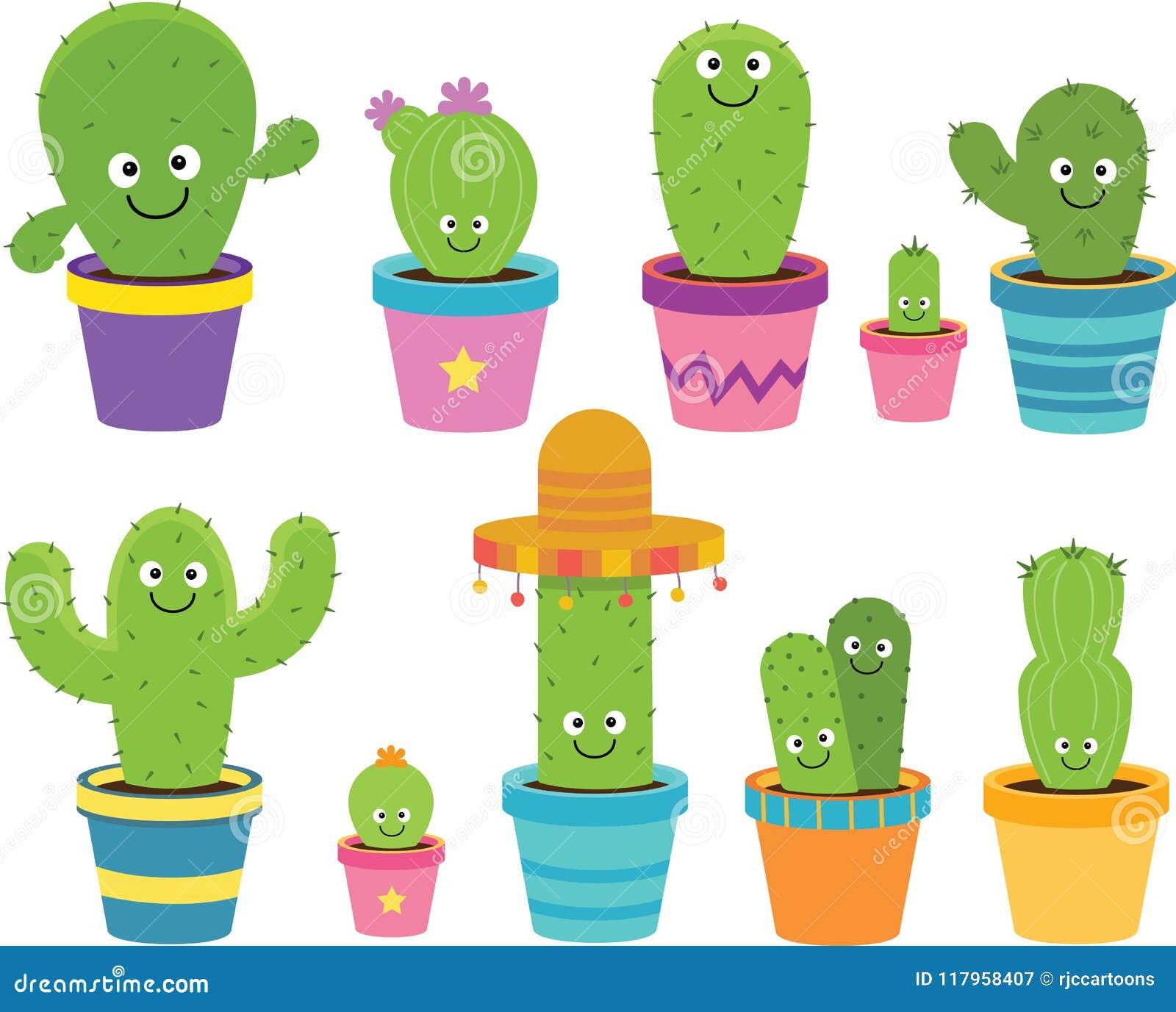 Cartoon Cactus Clipart