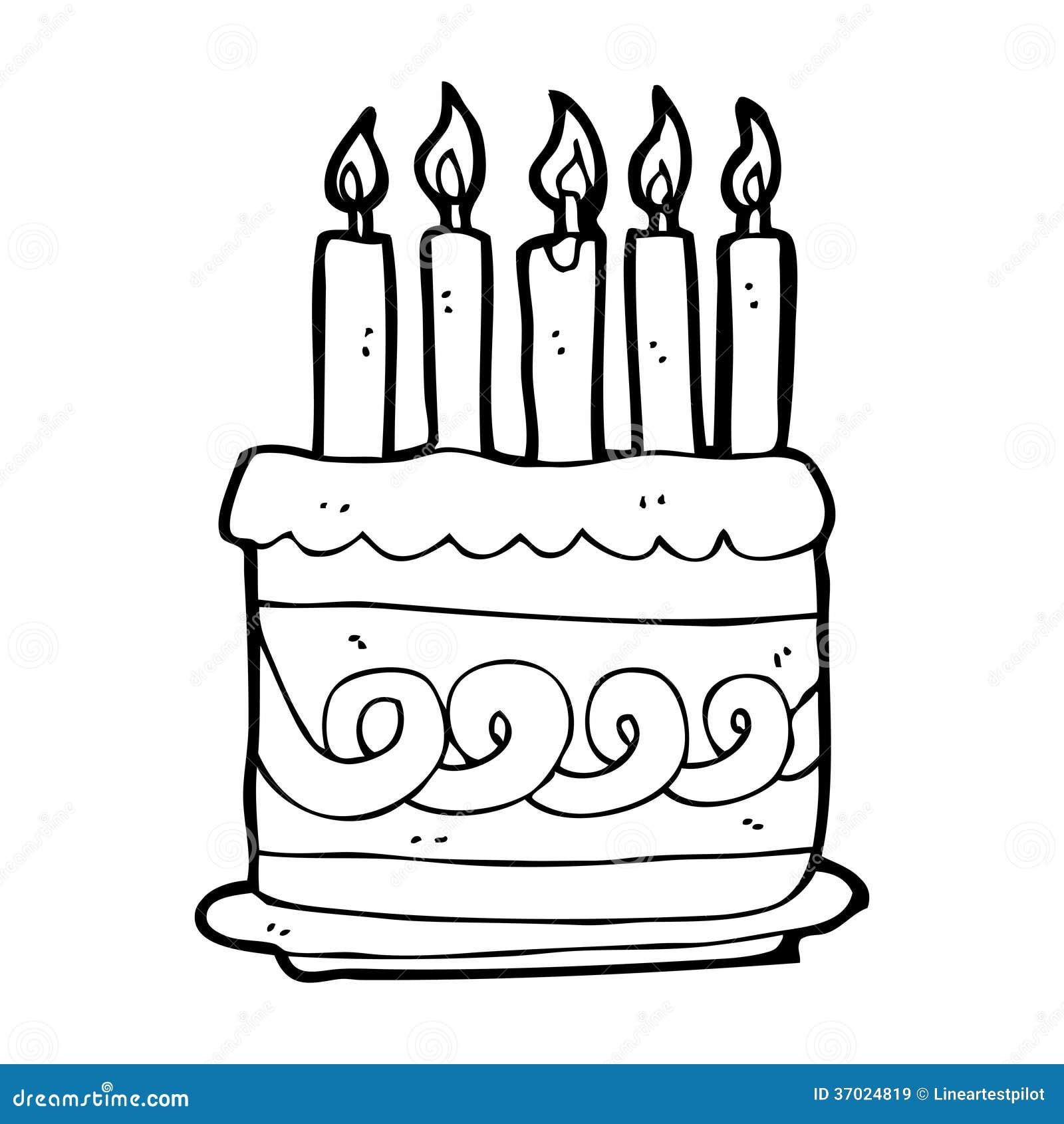 Amazing Cartoon Cake Stock Illustration Illustration Of Quirky 37024819 Funny Birthday Cards Online Elaedamsfinfo