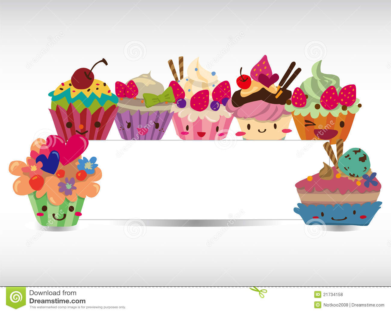 Cartoon Cake Card Royalty Free Stock Photos - Image: 21734158