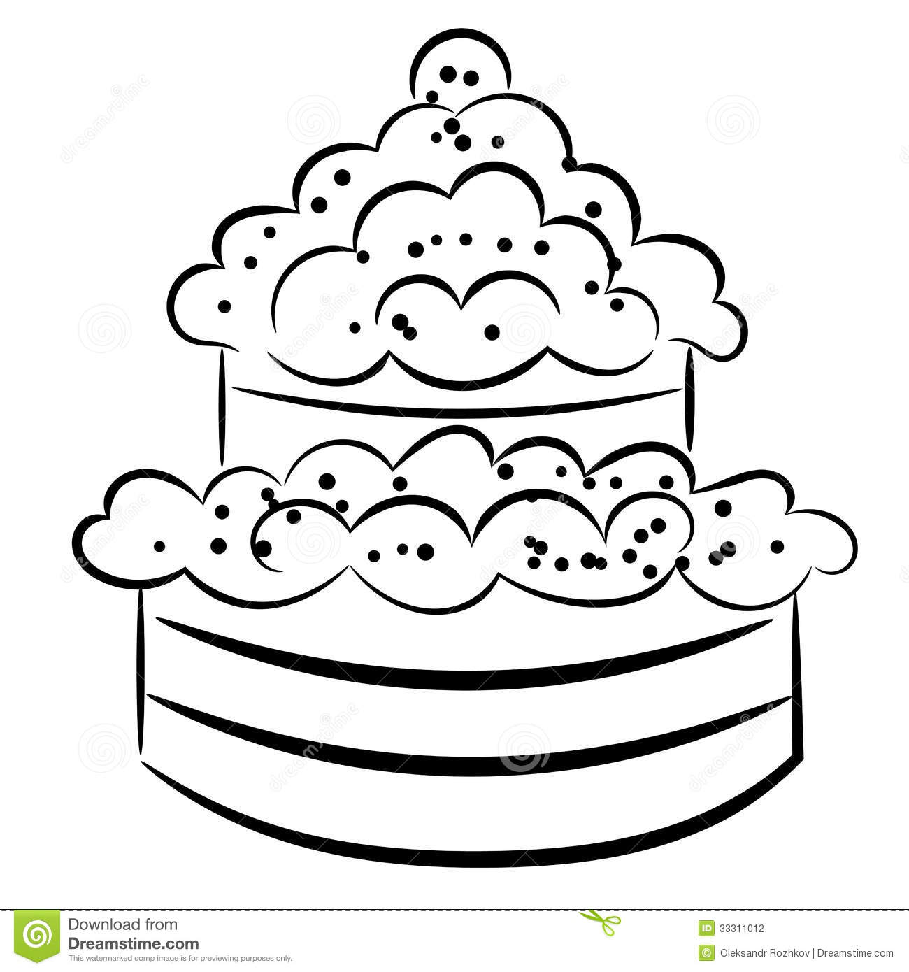 Cartoon Cake Eps10 Stock Photography