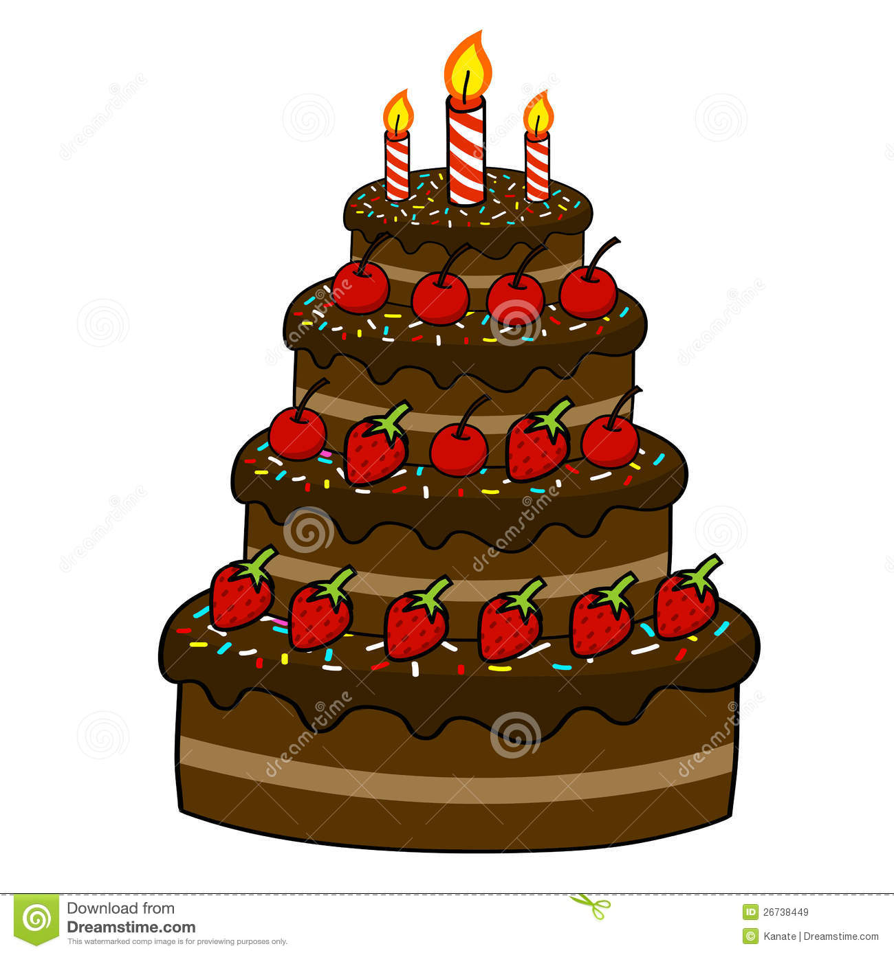 Cartoon Cake Hand Drawing Royalty Free Stock Images