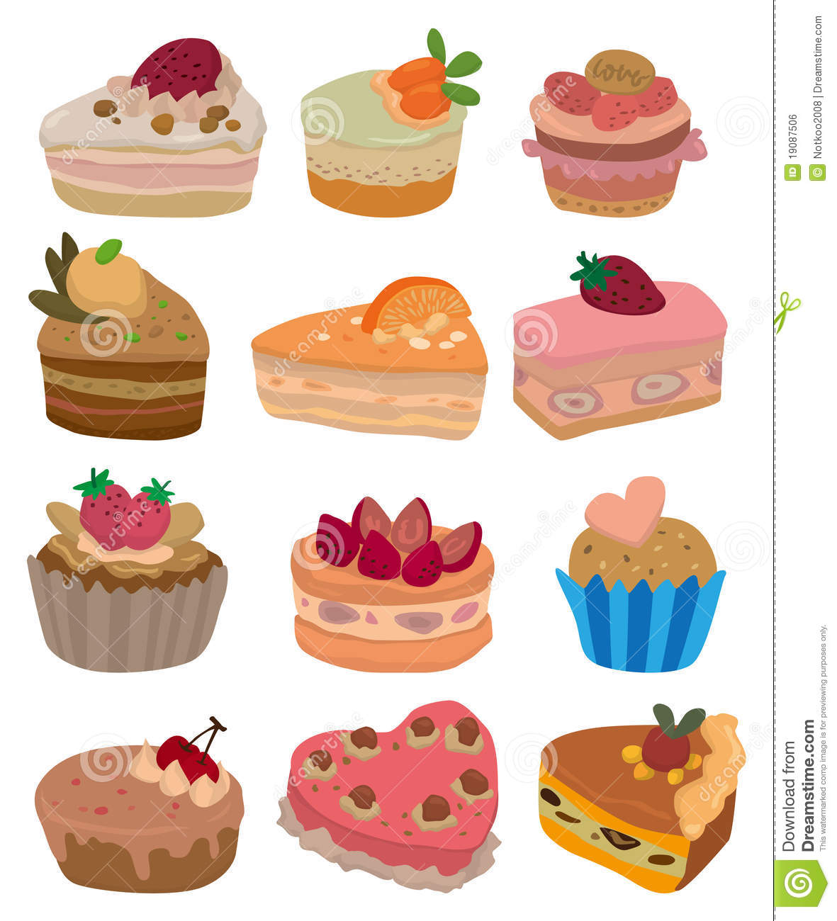 Larva Cartoon Cake Design : Cartoon Cake Icon Royalty Free Stock Image - Image: 19087506