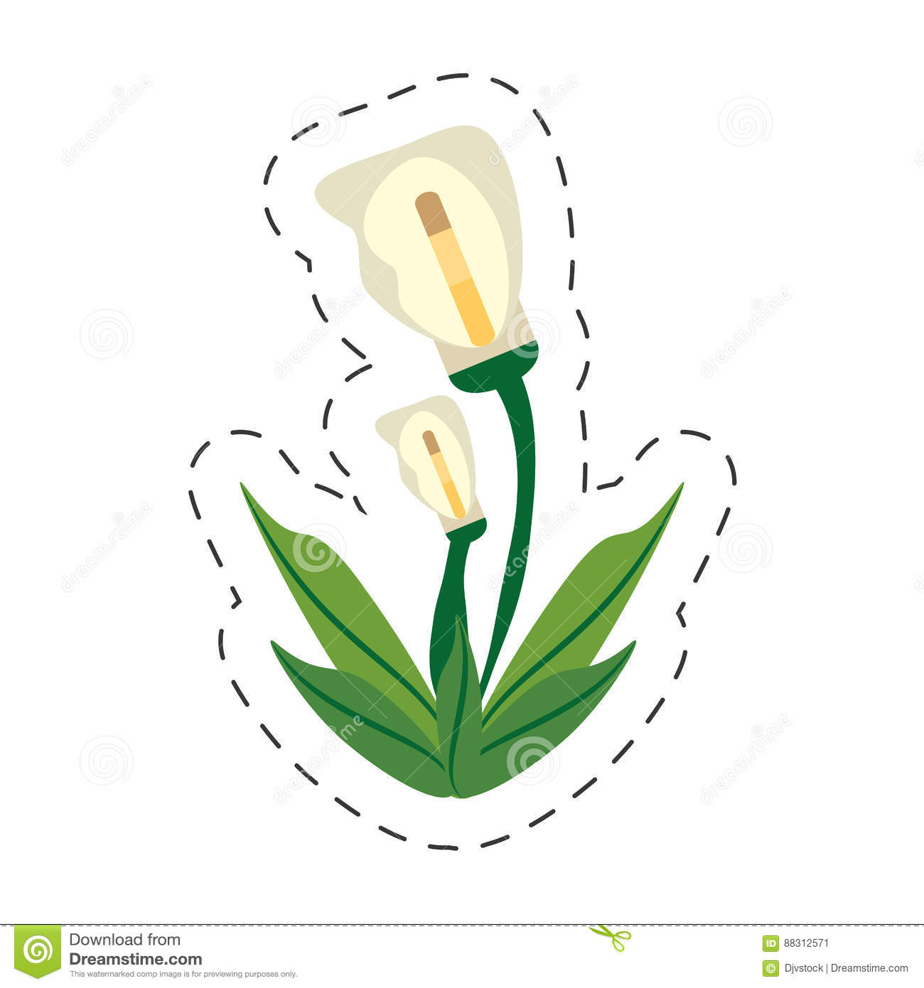 Cartoon calla lily flower image stock illustration illustration of download comp izmirmasajfo
