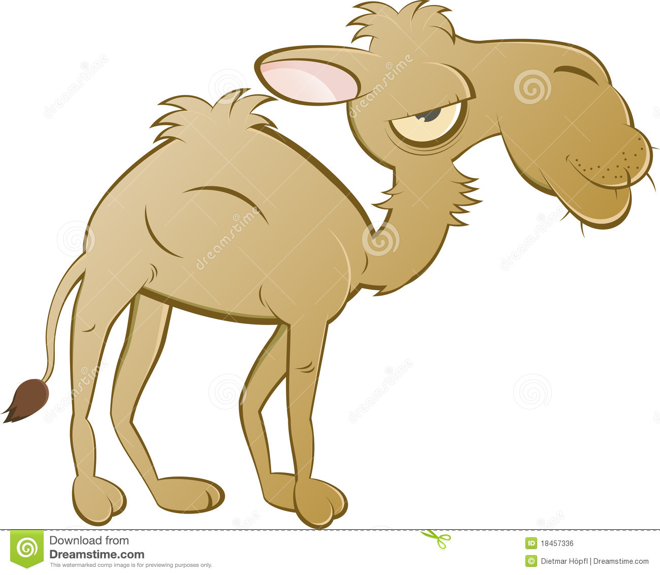 Cartoon Camel Royalty Free Stock Image - Image: 18457336