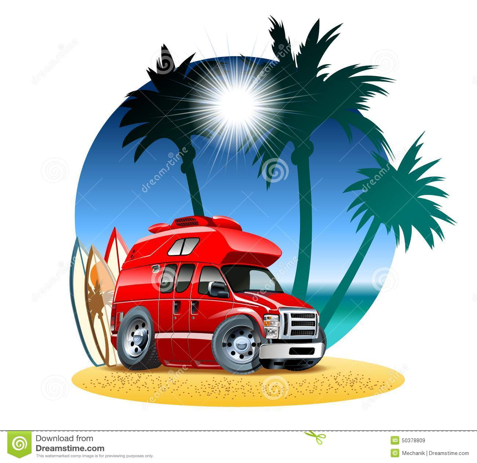 Hub Group Trucking Cartoon : Cartoon camper stock vector image