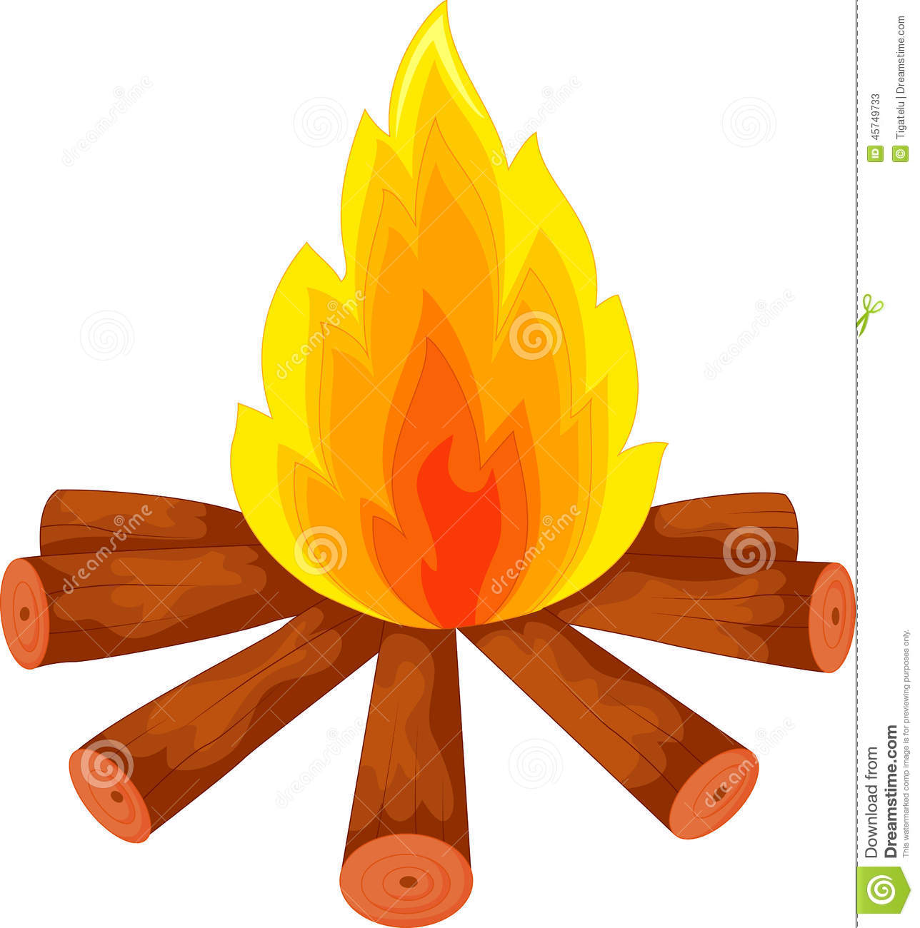 cartoon a campfire on white stock vector image 45749733 campfire clipart black and white campfire clip art free images