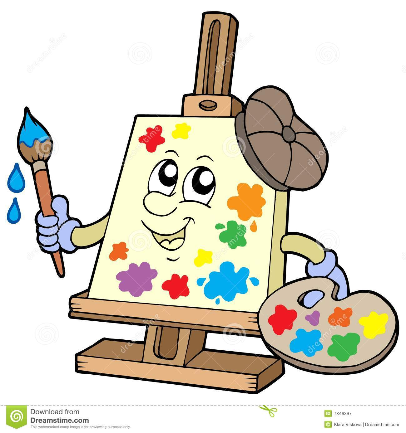 Cartoon Canvas Artist Royalty Free Stock Photography Image 7846397