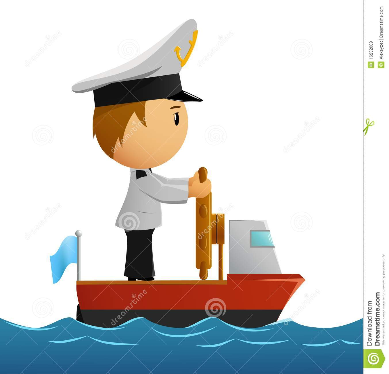 cartoon captain sailor in uniform on the ship royalty free stock images image 16232009 tugboat clip art image tugboat clipart free black and white