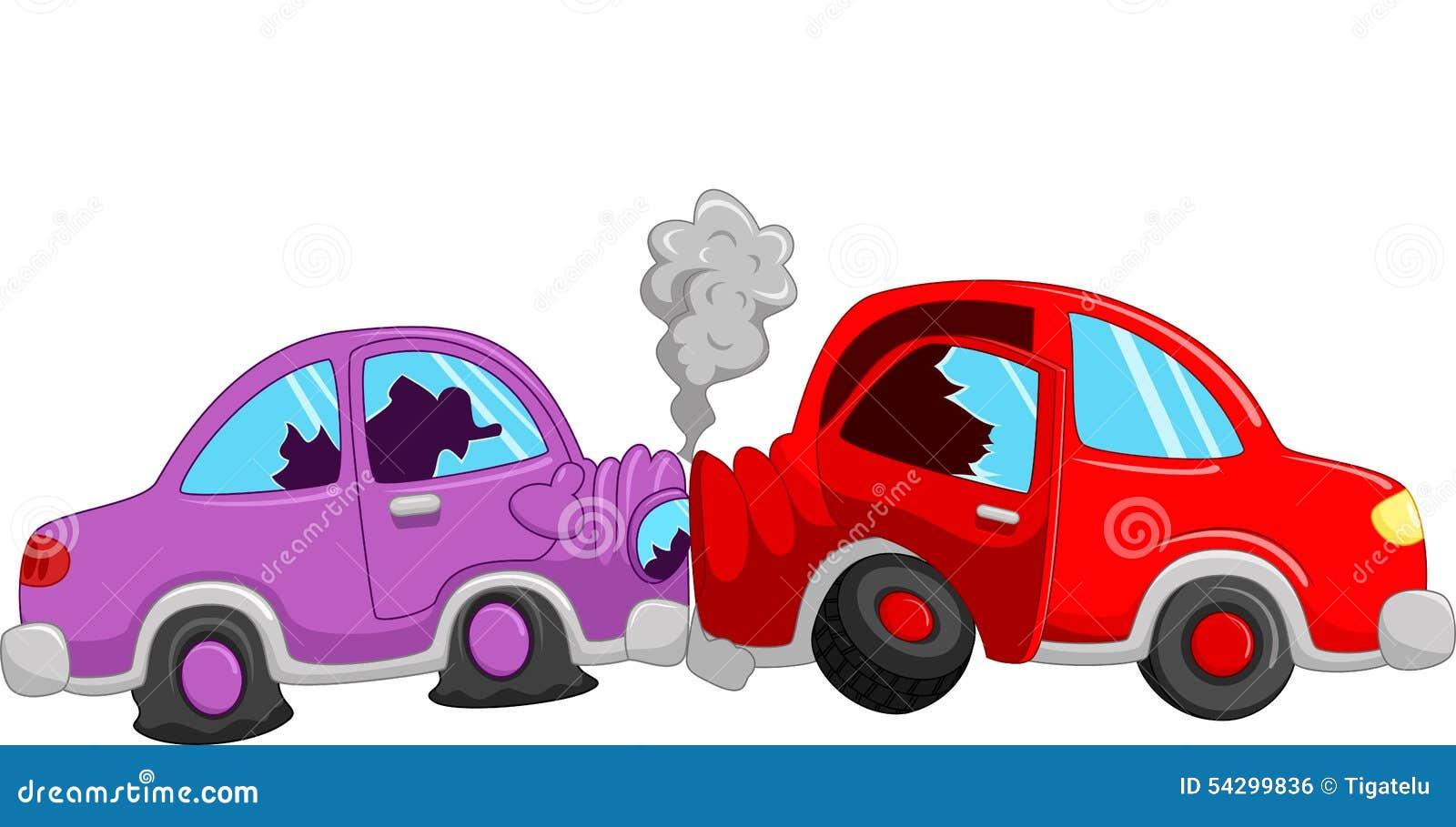 Cartoon Car Accident Stock Illustration - Image: 54299836