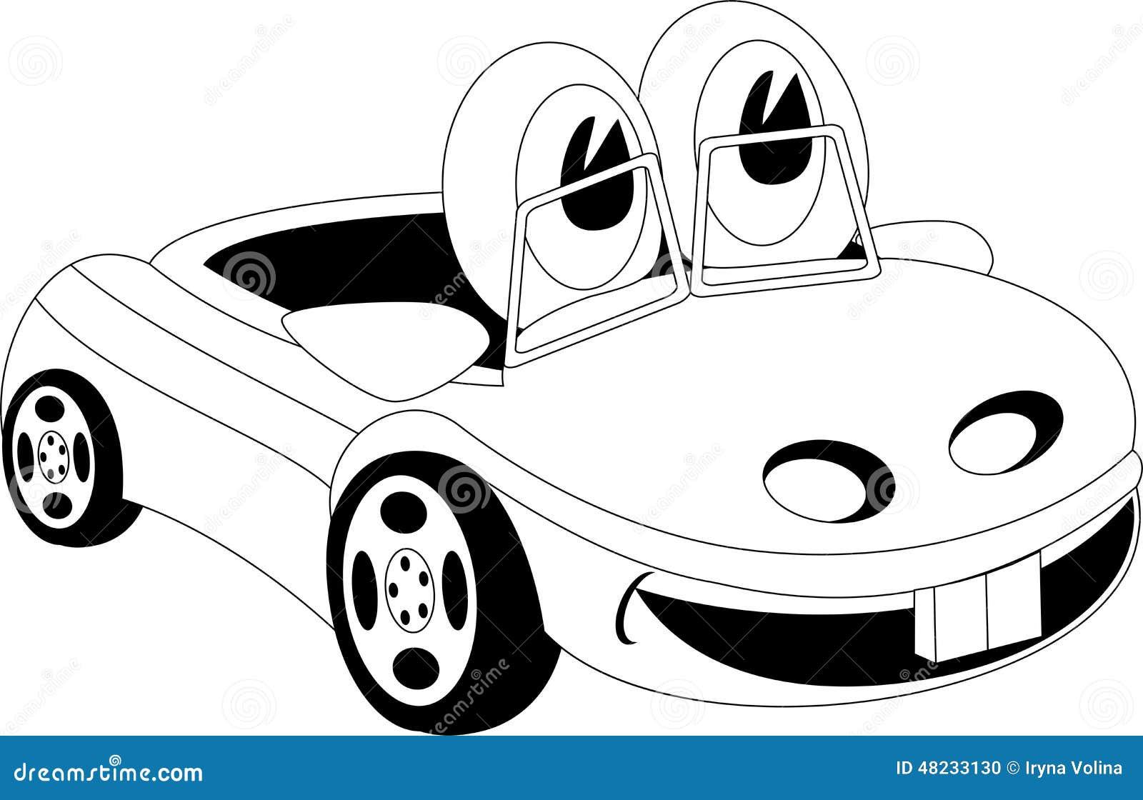 Black Book Car Prices Cartoon Stock Vector