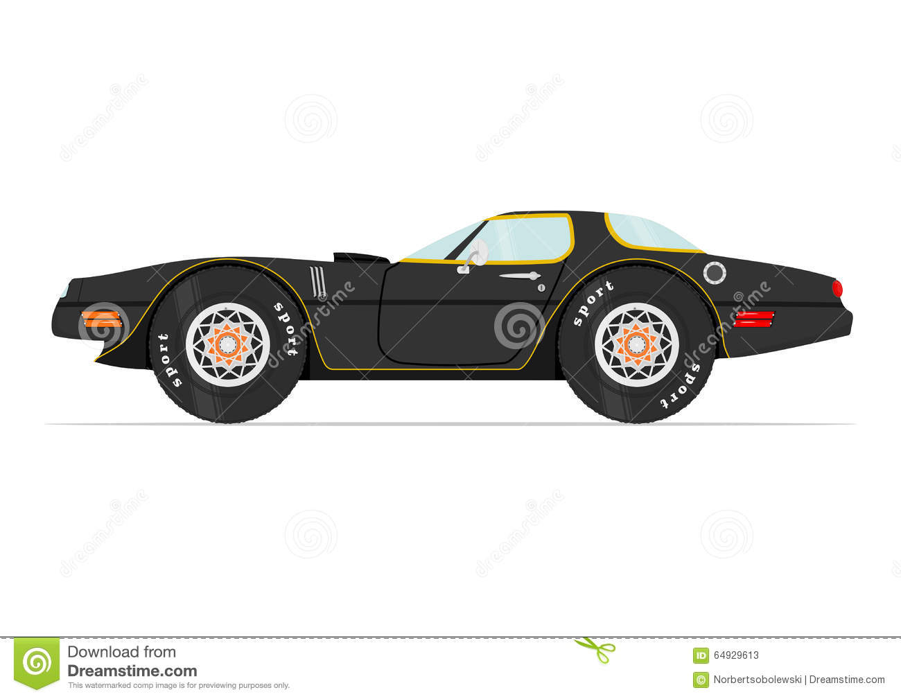 Cartoon Car Stock Vector Image 64929613