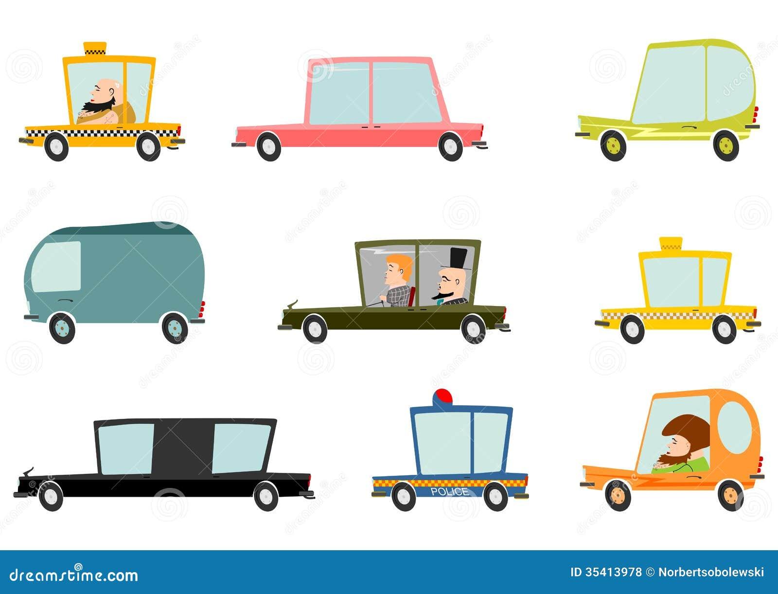 Cartoon car set stock vector. Illustration of compact - 35413978