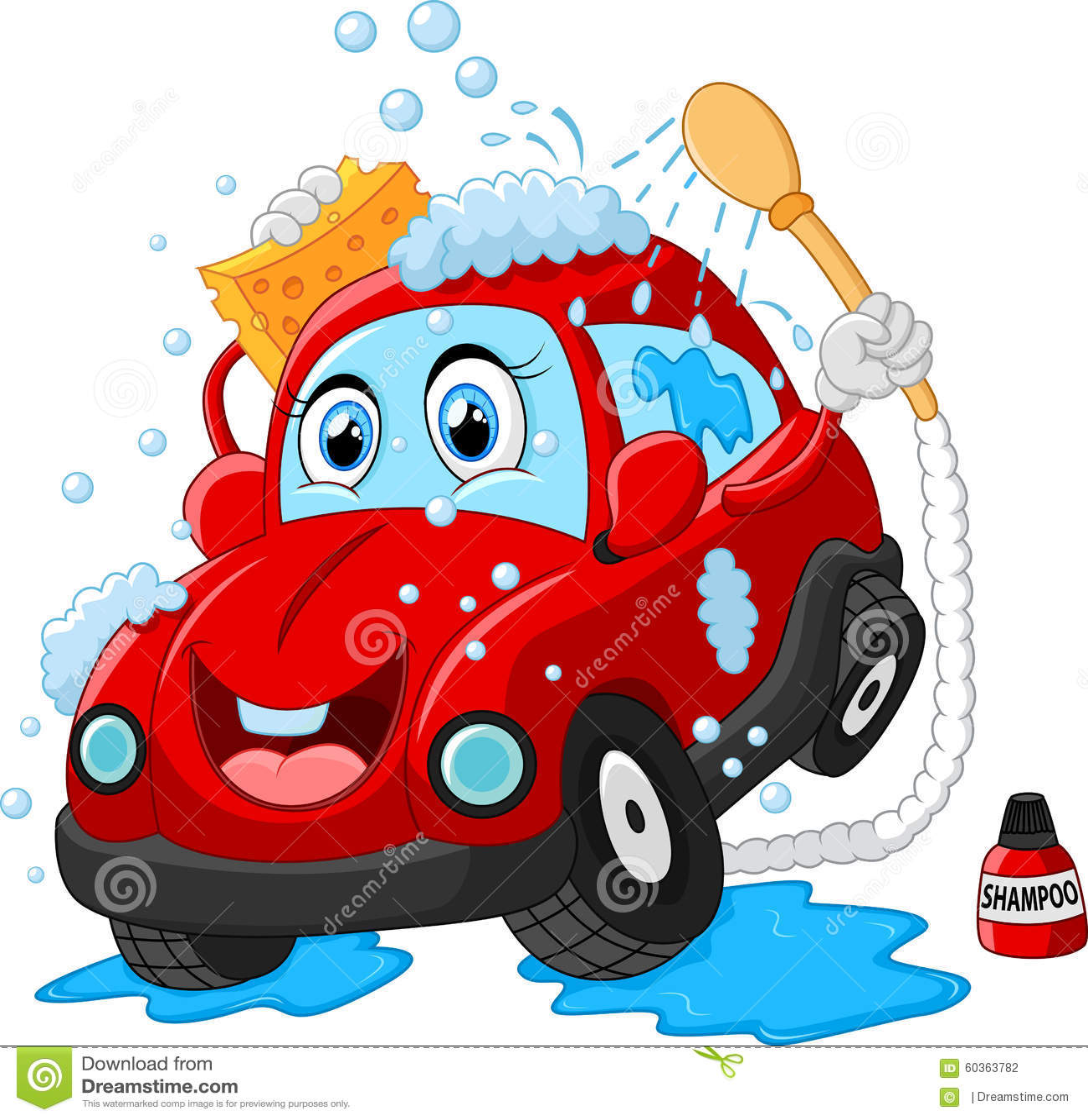 Cartoon Car Wash Character Stock Illustration Image